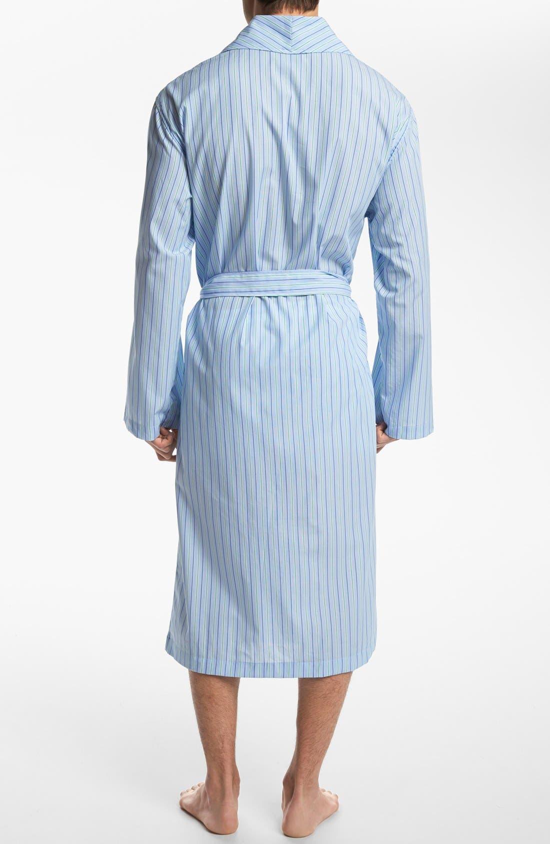 Woven Robe,                             Alternate thumbnail 2, color,                             BARI STRIPE