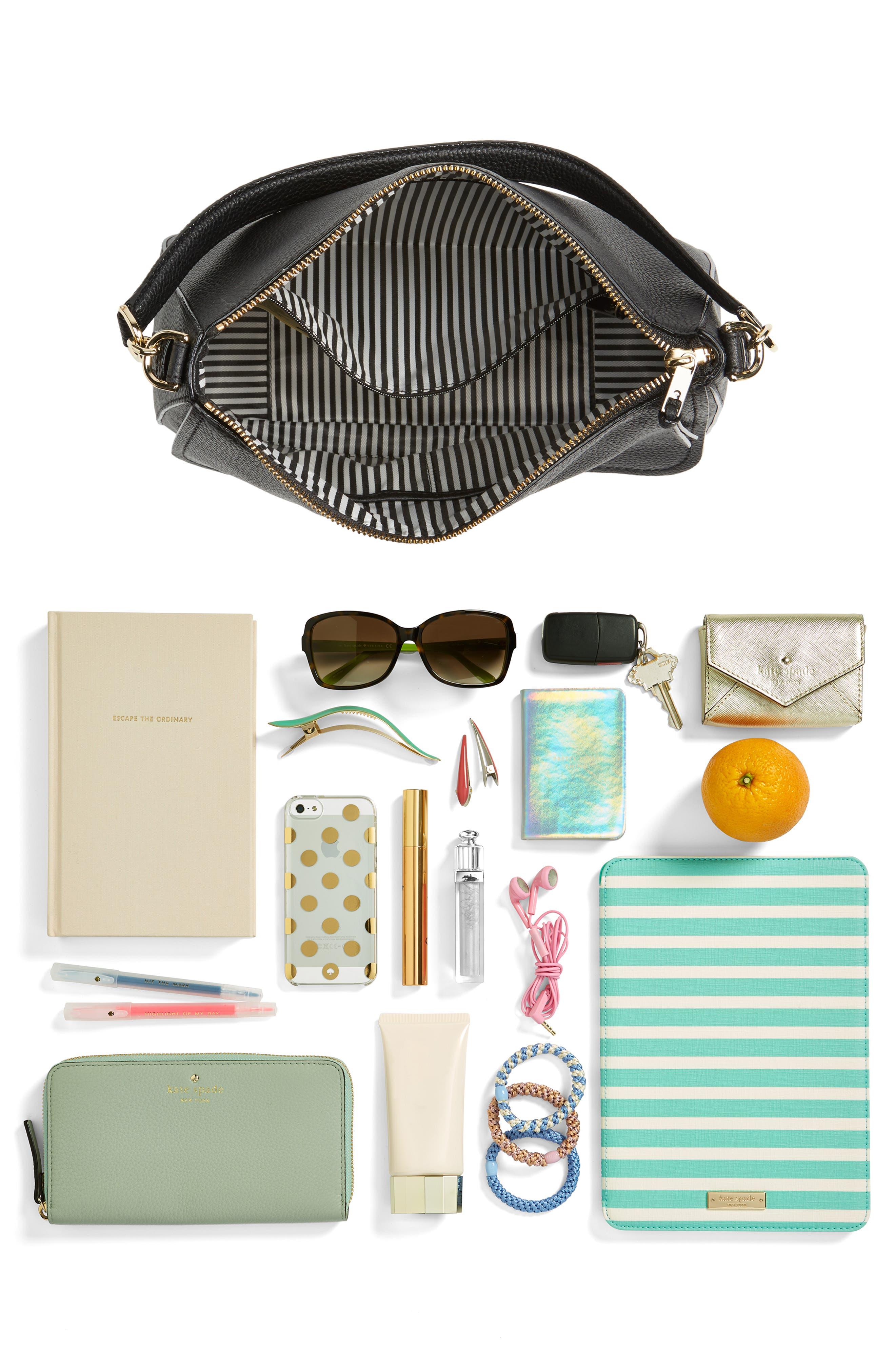 jackson street - colette leather satchel,                             Alternate thumbnail 7, color,                             BLACK
