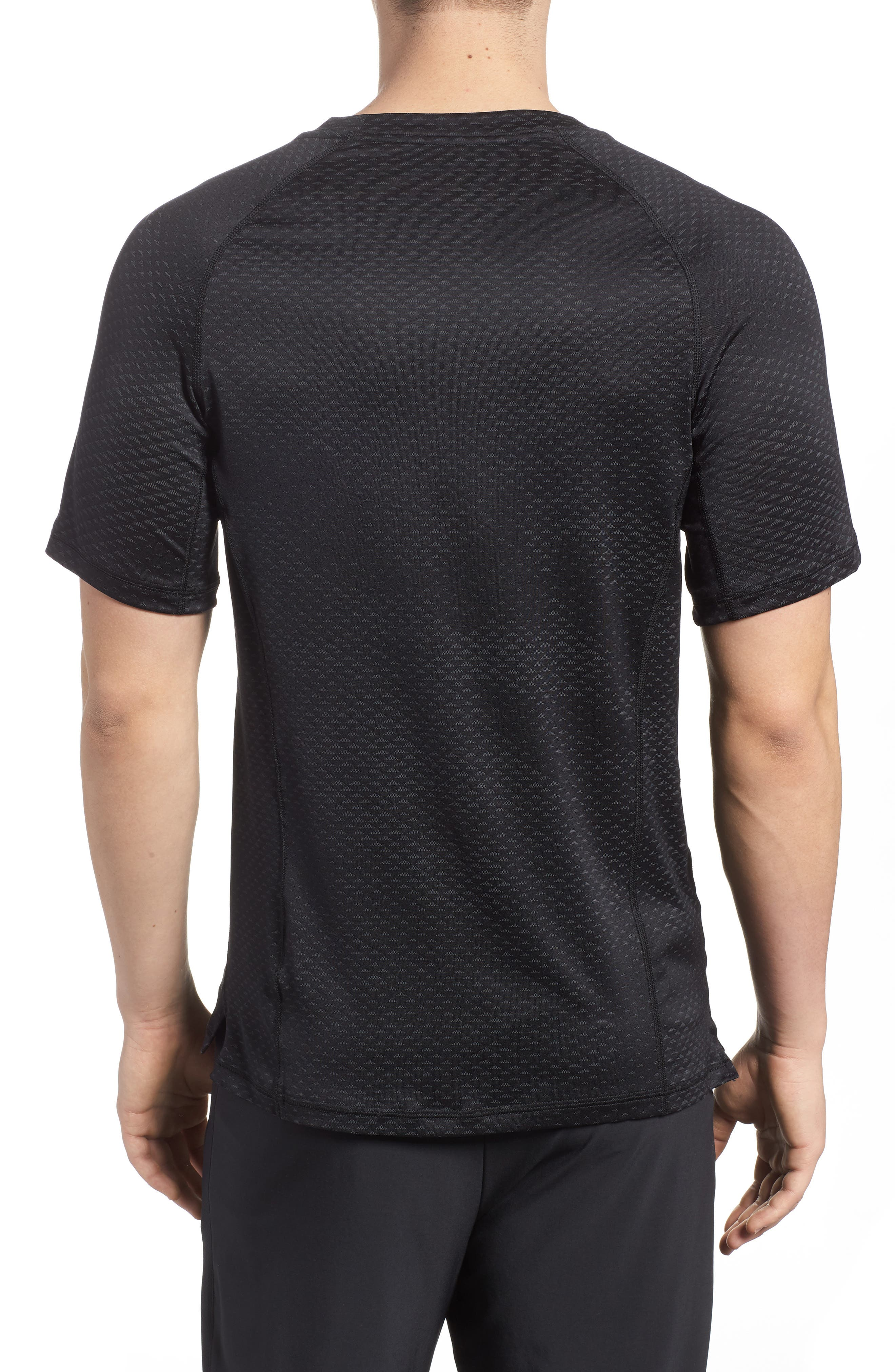 Pro HyperCool Fitted Crewneck T-Shirt,                             Alternate thumbnail 2, color,                             010