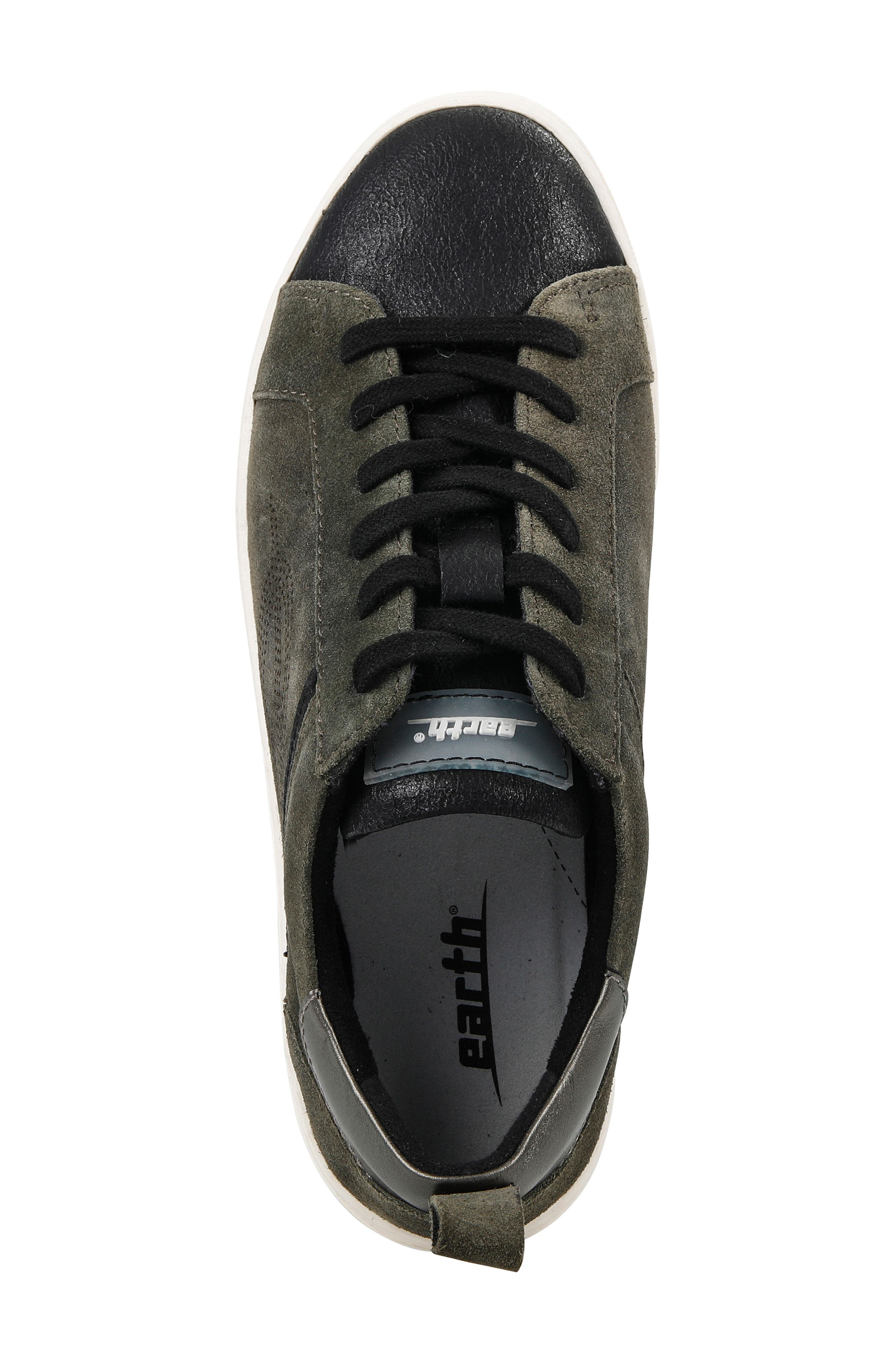 EARTH<SUP>®</SUP>,                             Zinnia Low Top Sneaker,                             Alternate thumbnail 4, color,                             001