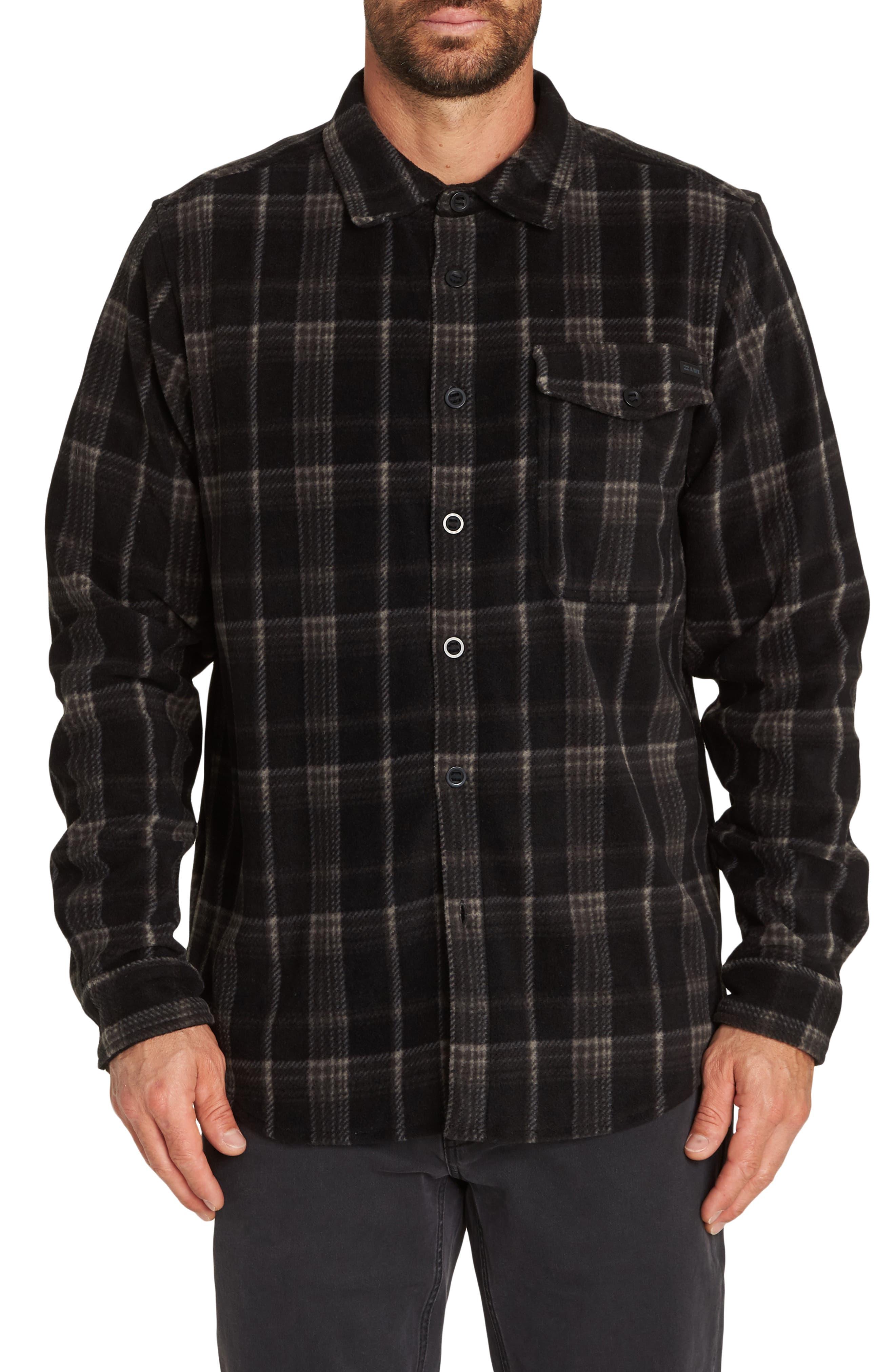 Furnace Plaid Shirt,                         Main,                         color, BLACK