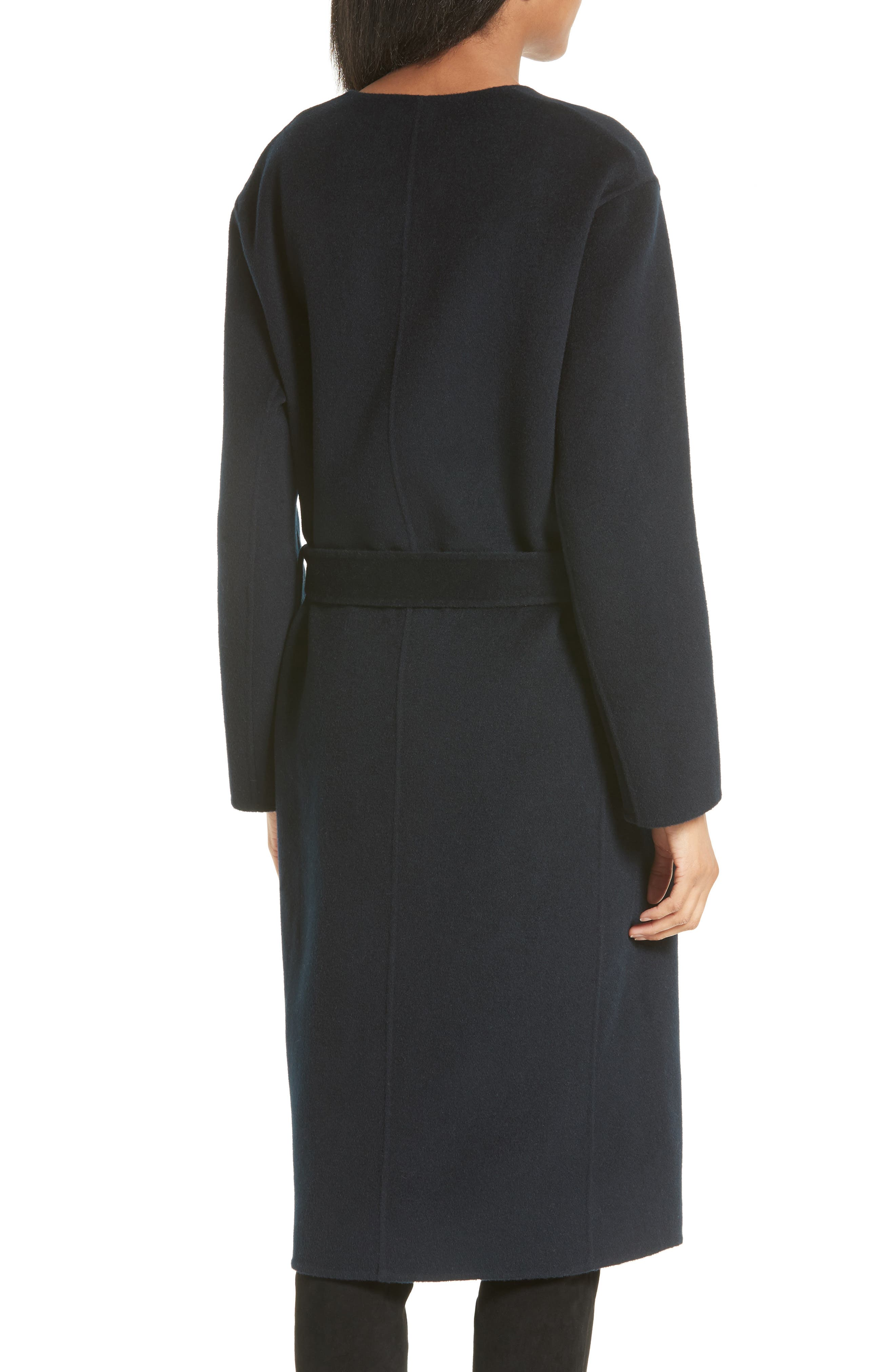 Reversible Wool & Cashmere Belted Coat,                             Alternate thumbnail 3, color,                             464