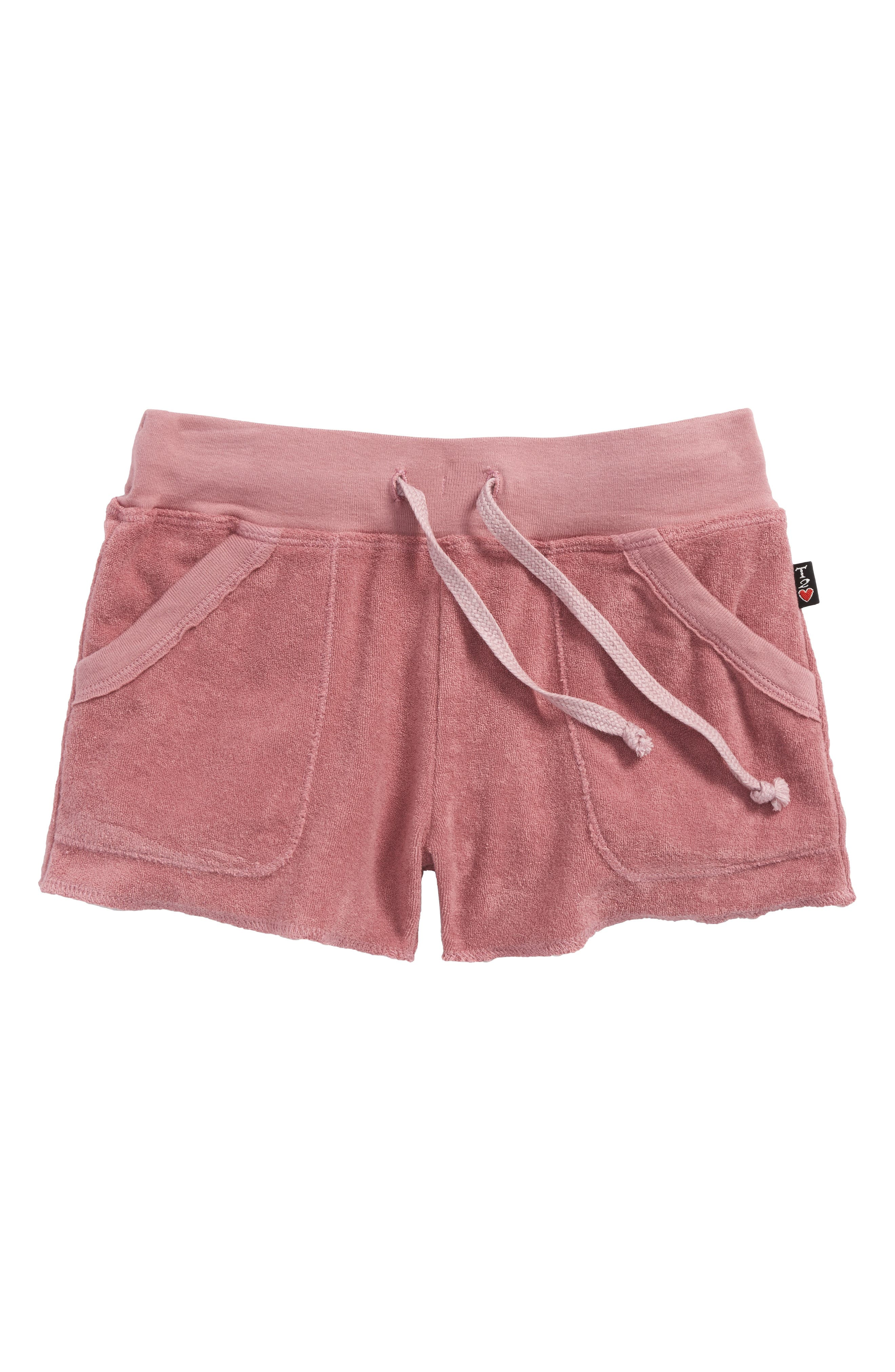 T2Love French Terry Shorts,                             Main thumbnail 1, color,                             600