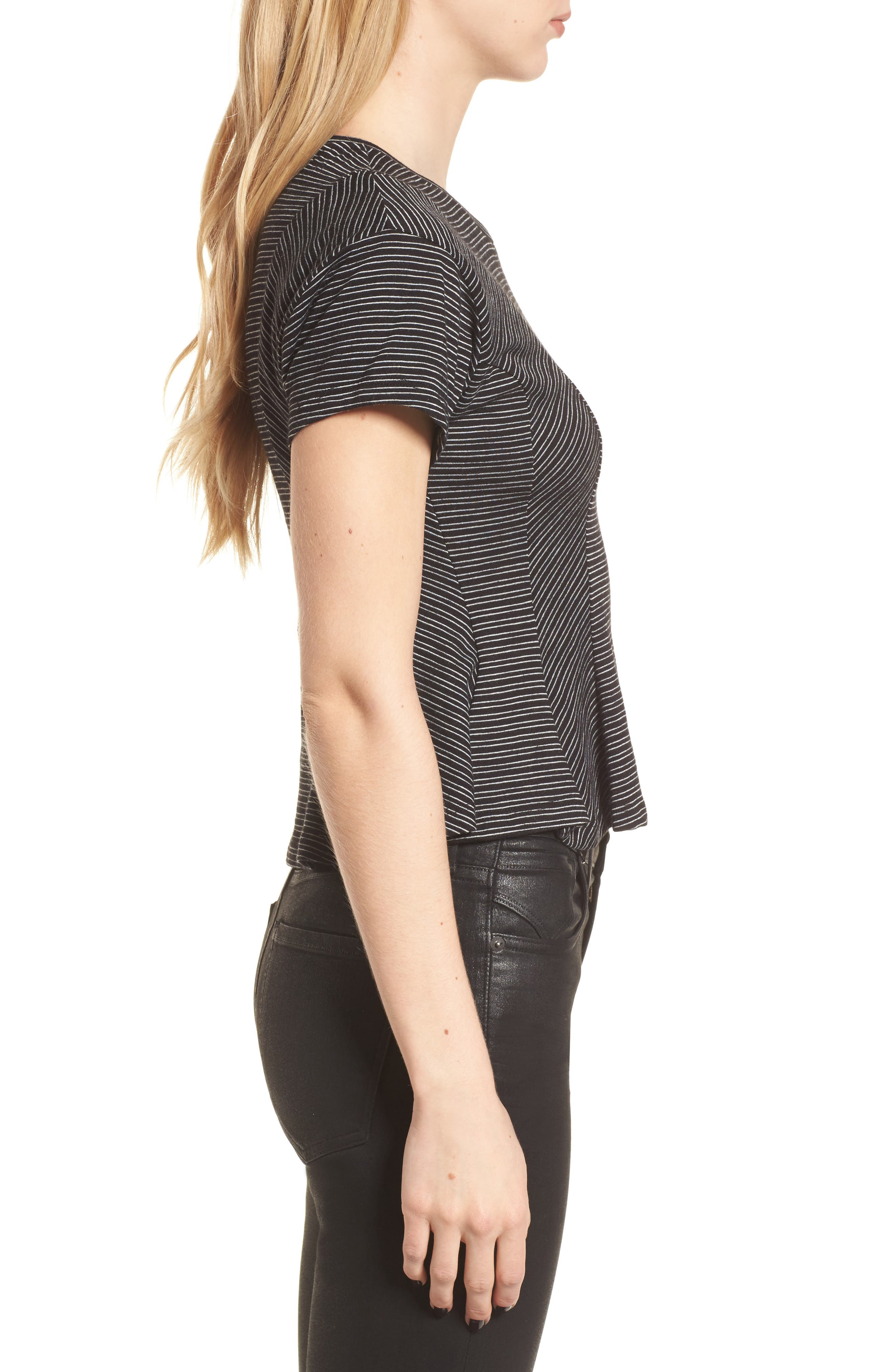 Stripe Peplum Tee,                             Alternate thumbnail 6, color,