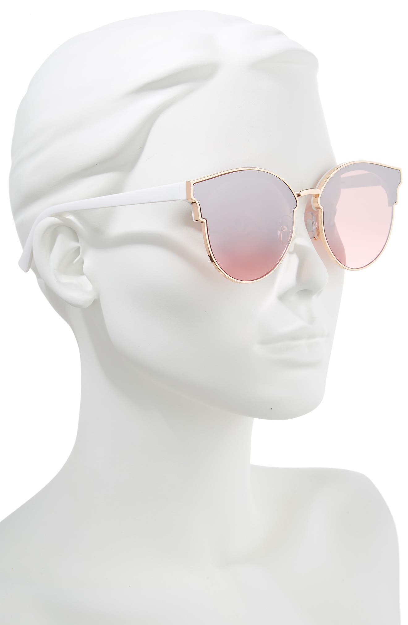 58mm Flat Cat Eye Sunglasses,                             Alternate thumbnail 2, color,
