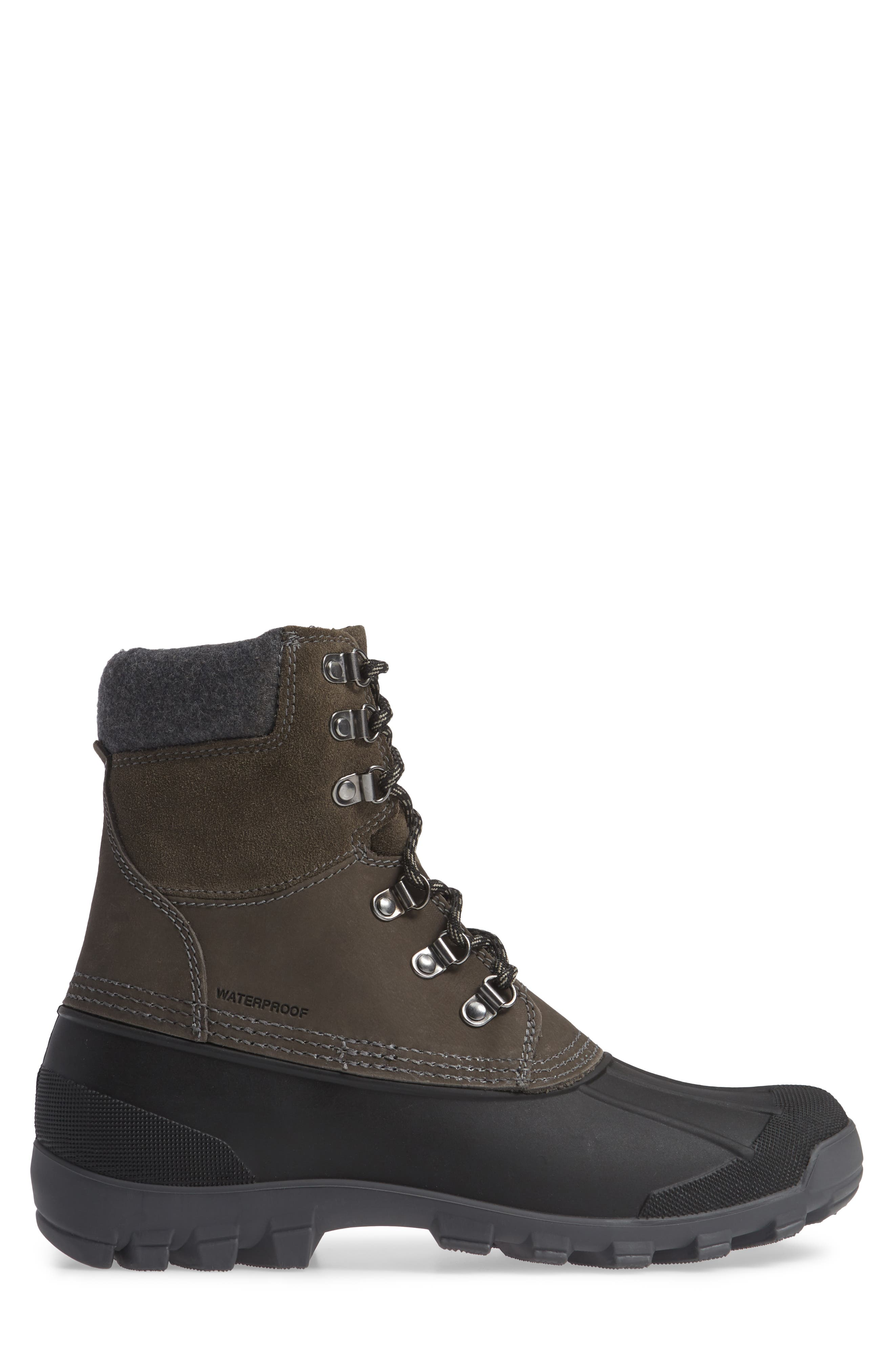 Hudson 5 Boot,                             Alternate thumbnail 3, color,                             CHARCOAL LEATHER