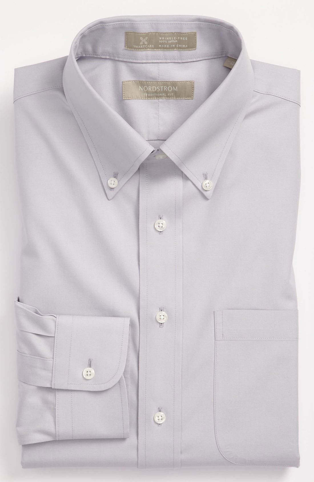 Smartcare<sup>™</sup> Traditional Fit Pinpoint Dress Shirt,                             Main thumbnail 7, color,