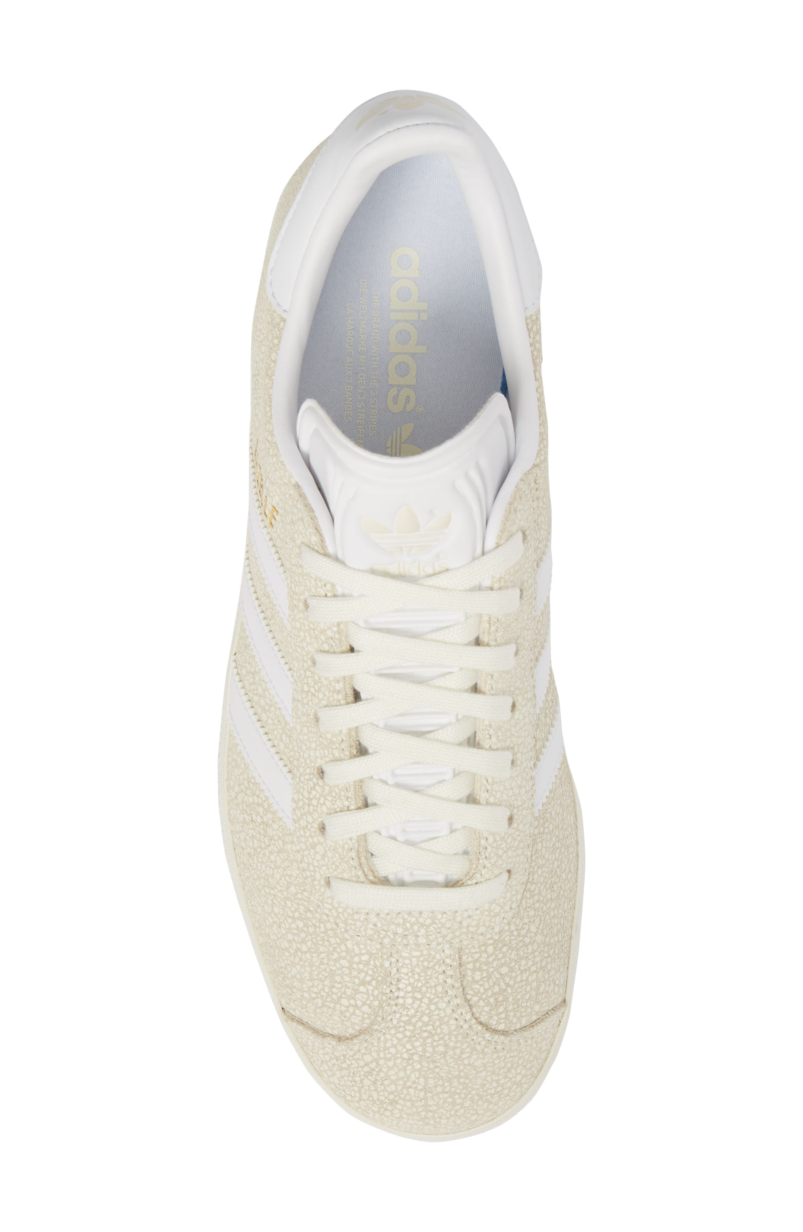 Gazelle Sneaker,                             Alternate thumbnail 5, color,                             OFF WHITE/ WHITE/ OFF WHITE