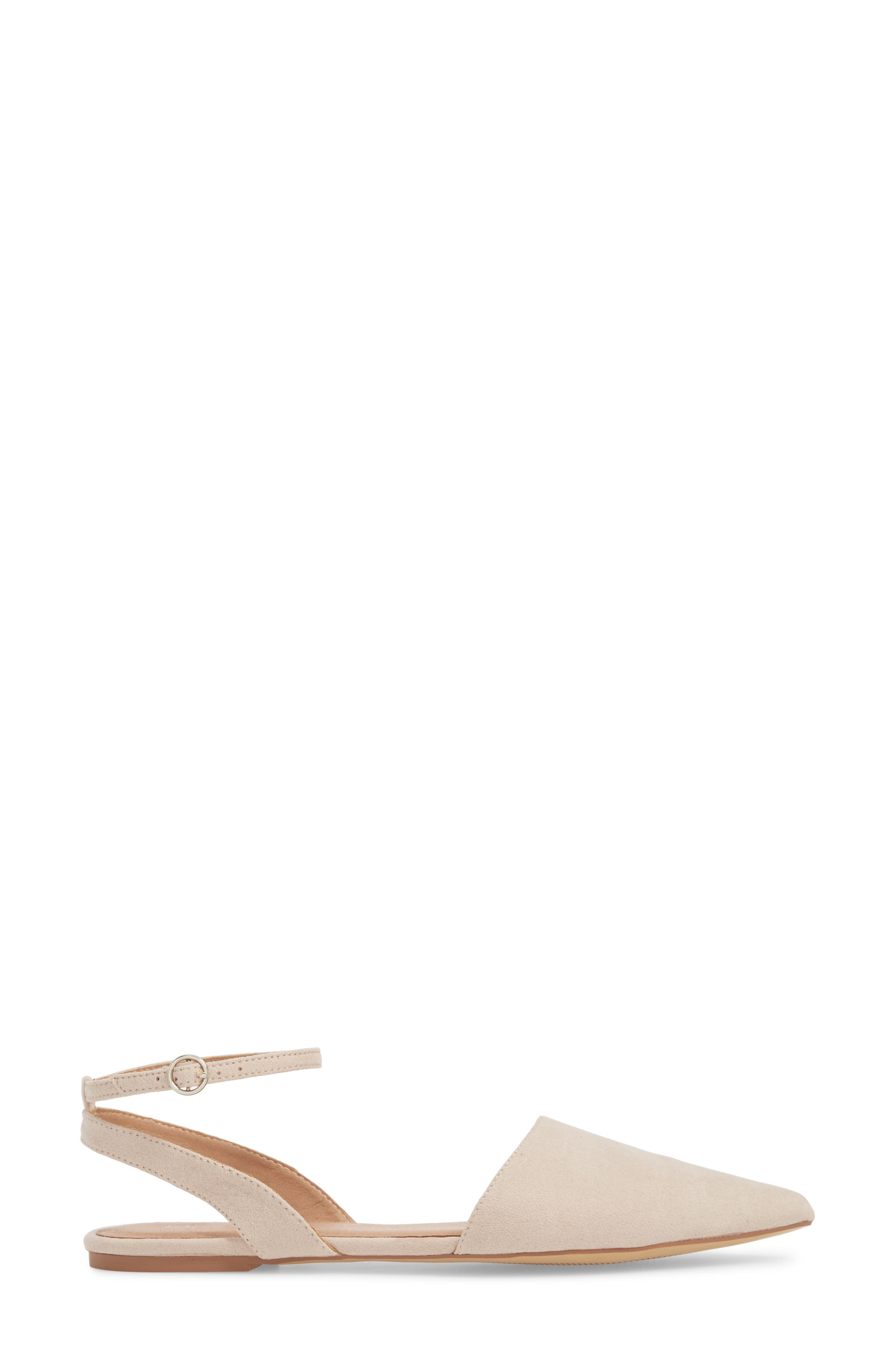 Anne Pointy Toe Flat,                             Alternate thumbnail 3, color,                             NUDE