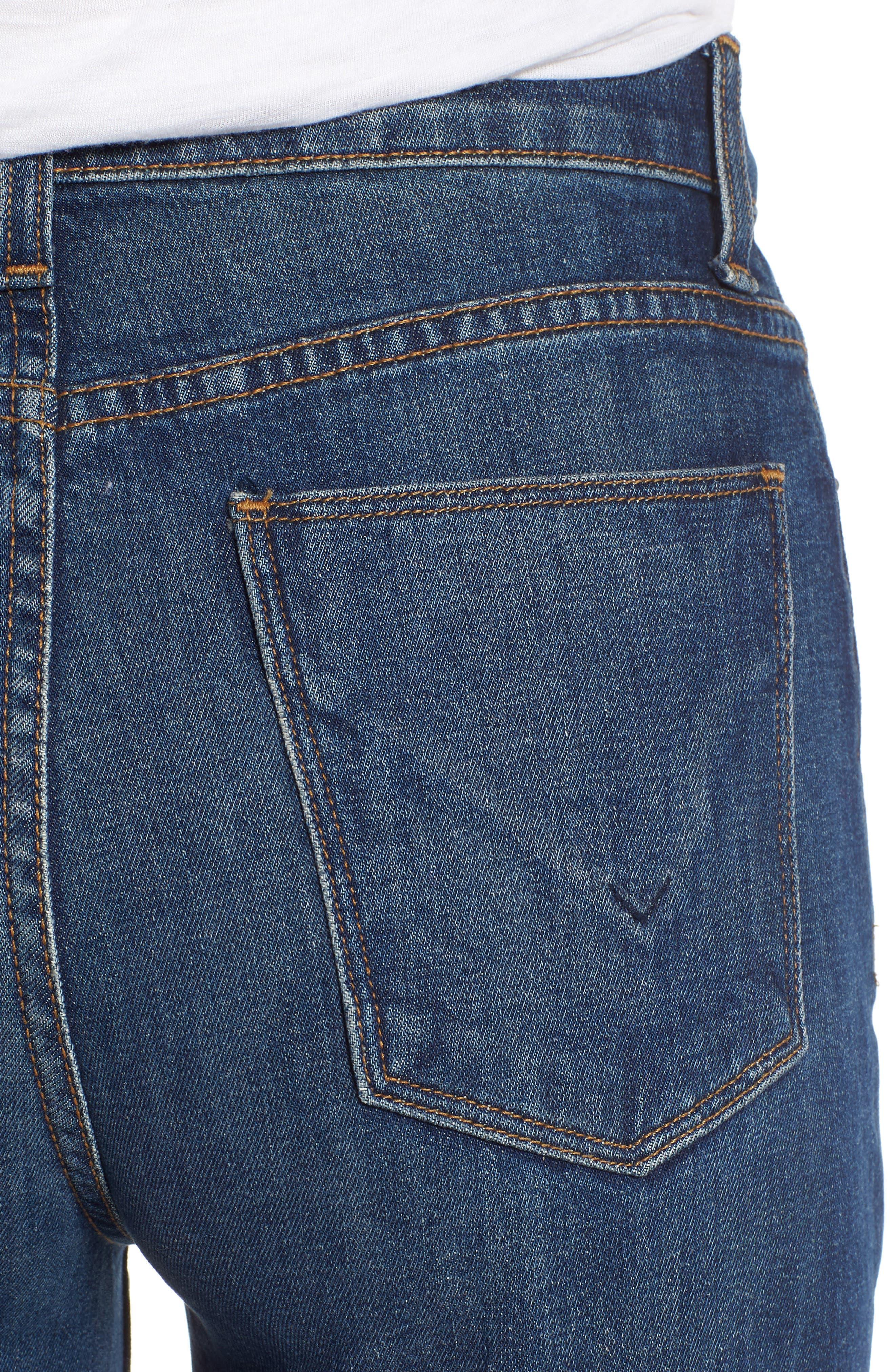 Zoeey High Waist Crop Straight Leg Jeans,                             Alternate thumbnail 4, color,                             402