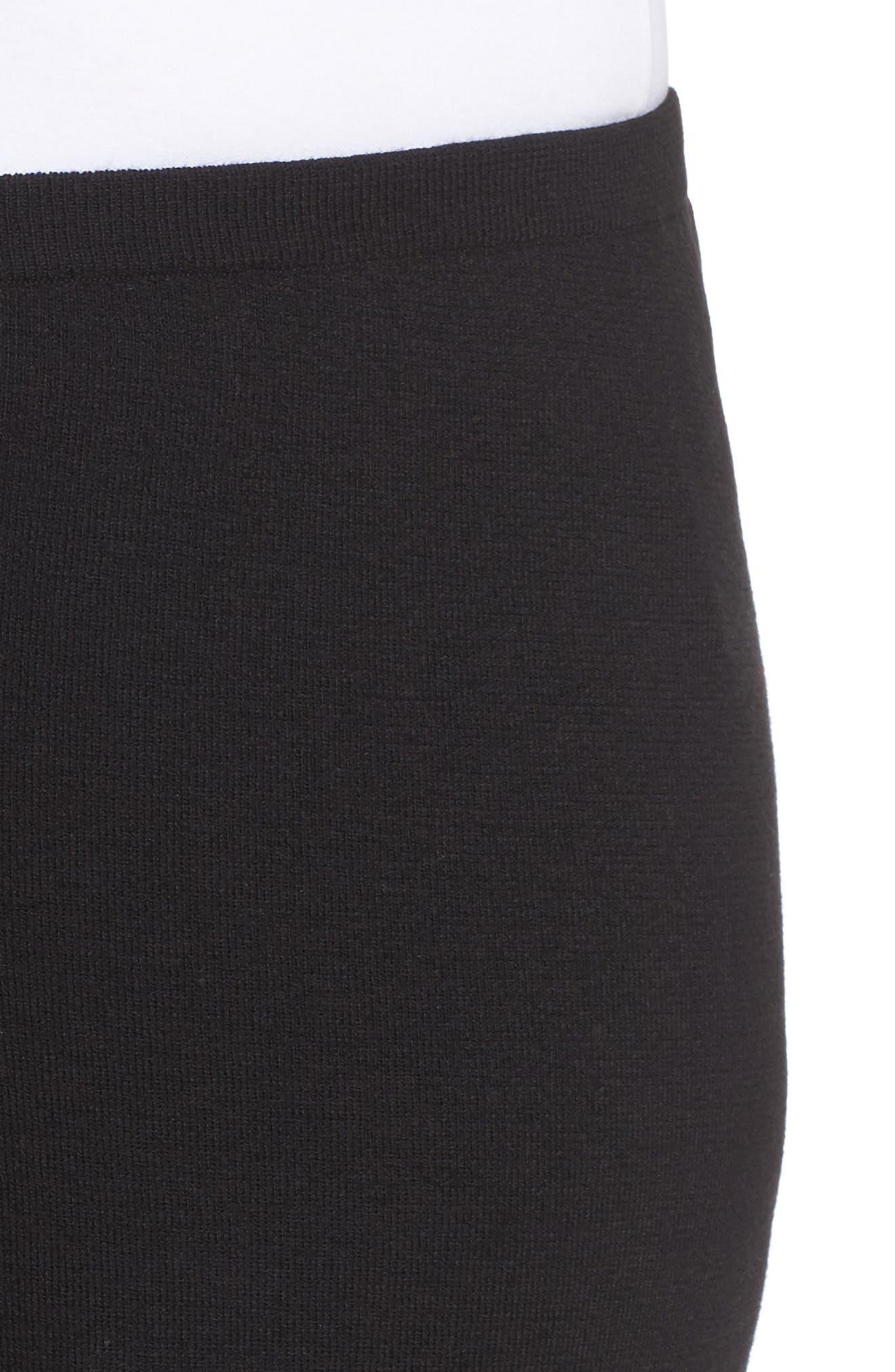 Wide Leg Crop Wool Pants,                             Alternate thumbnail 7, color,