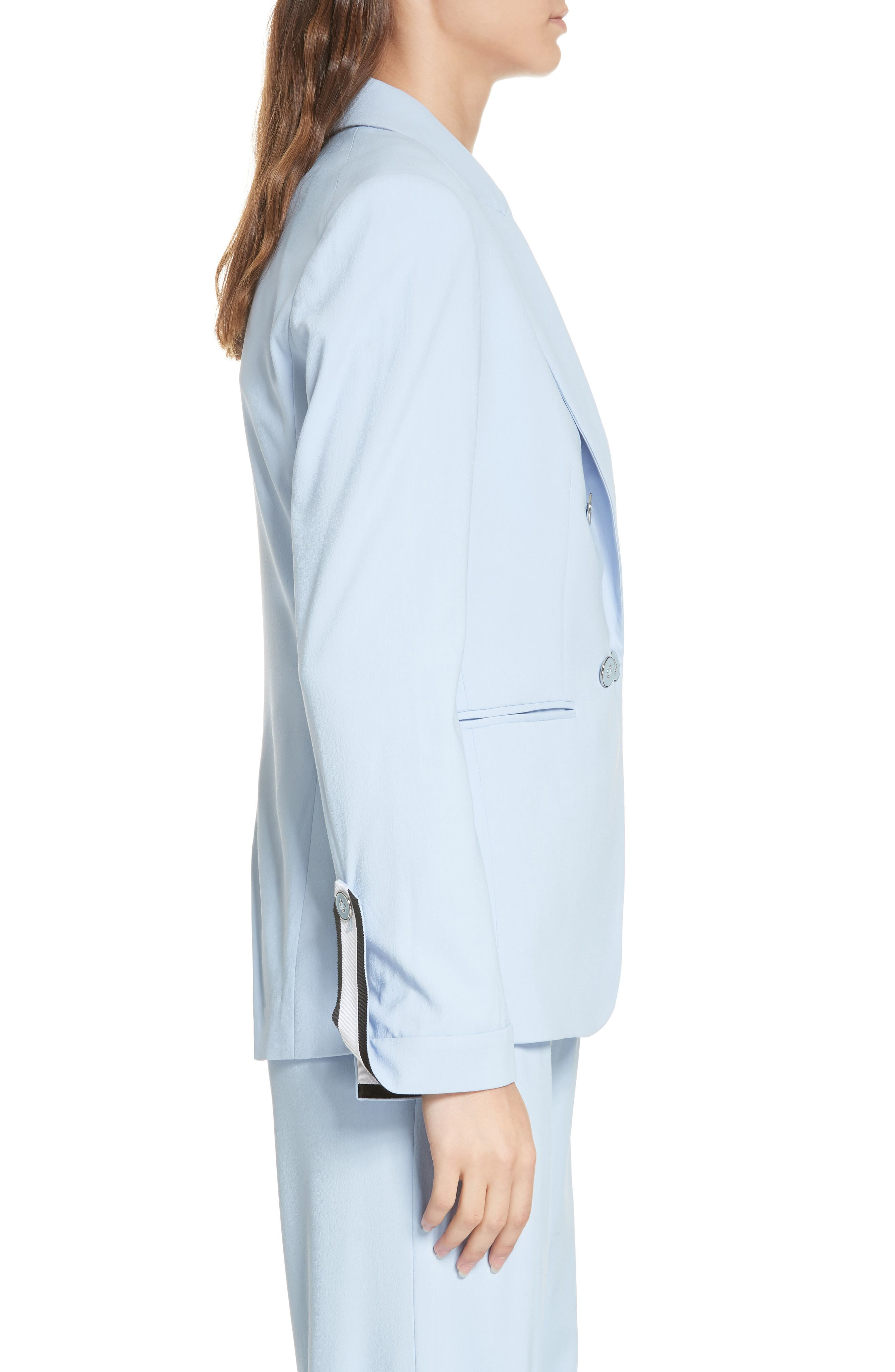 Aros Dickey Jacket,                             Alternate thumbnail 4, color,                             LIGHT BLUE