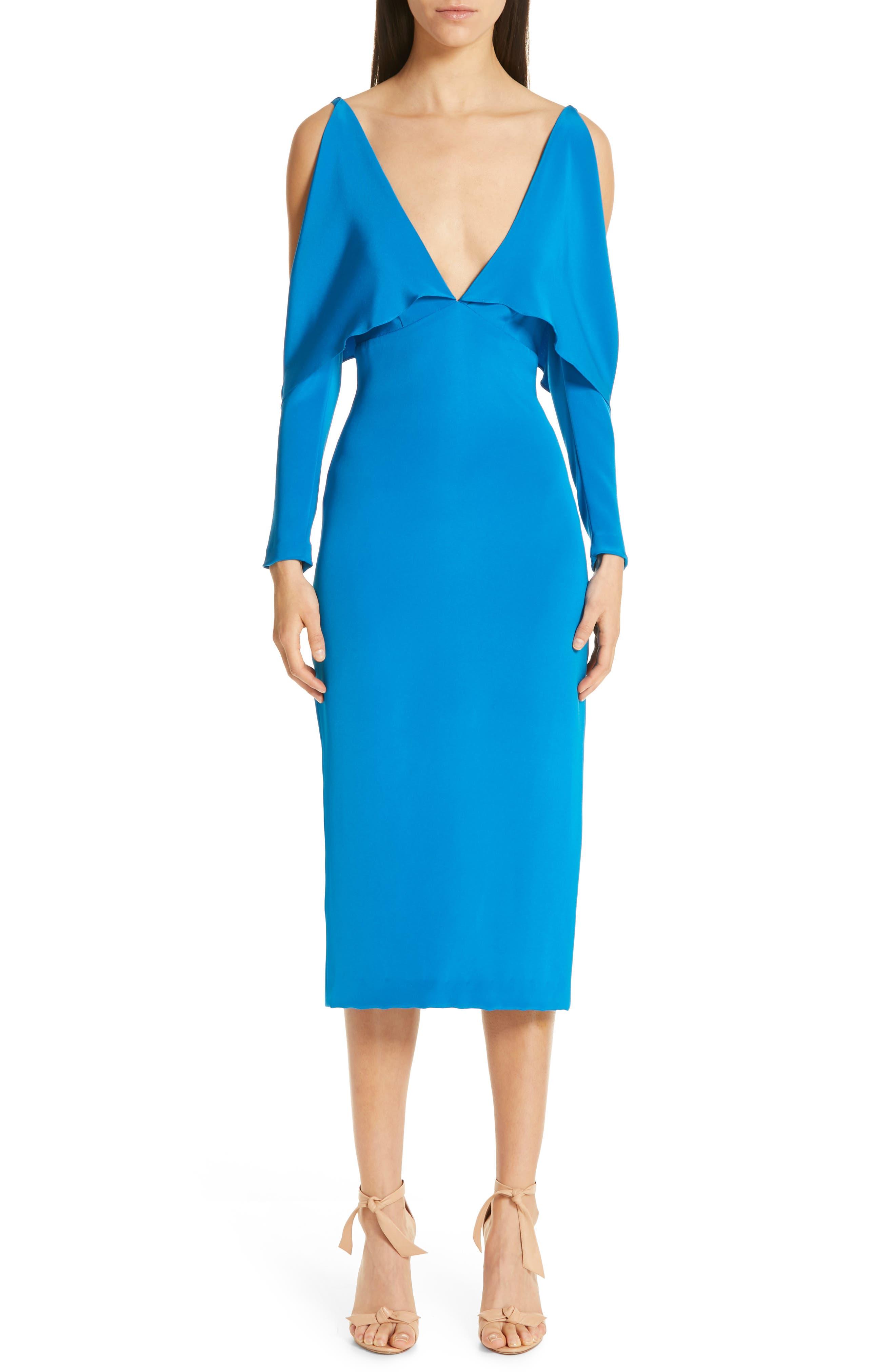 7ed6329ecb Cushnie Deep-V Cold Shoulder Pencil Dress