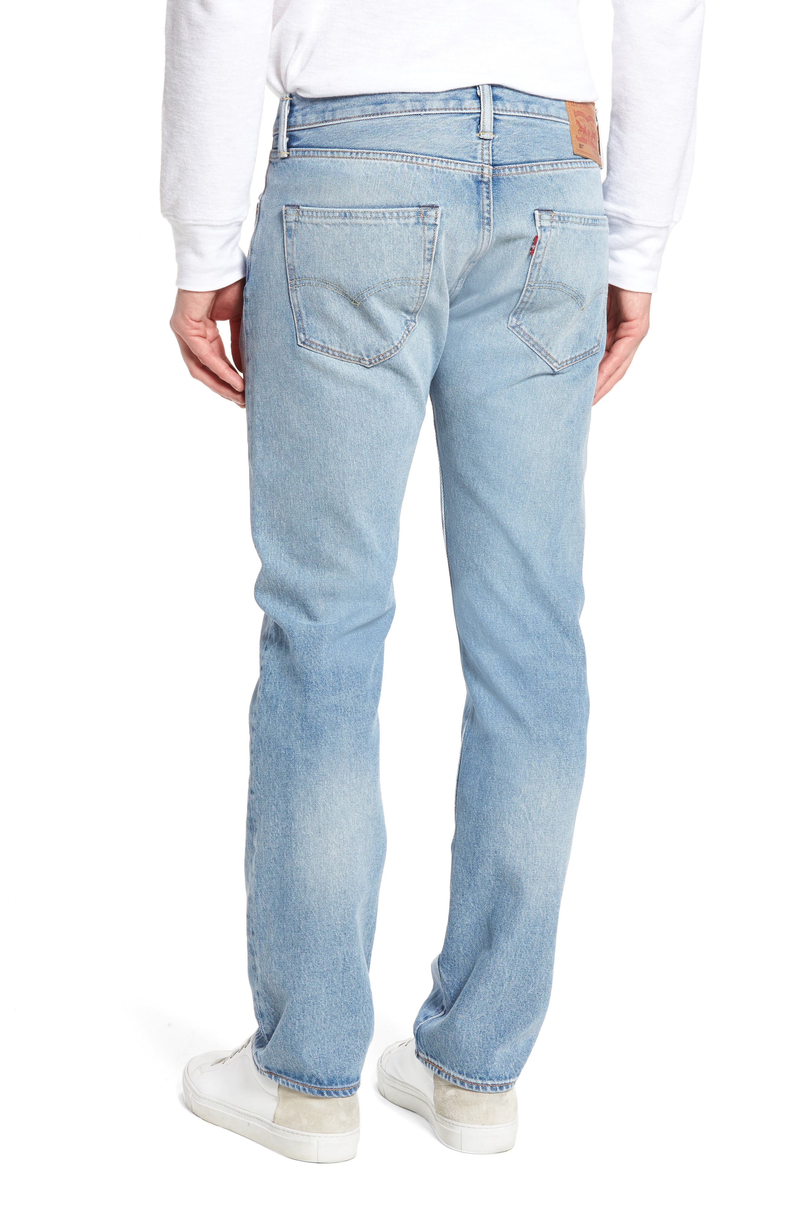 501<sup>™</sup> Slim Straight Leg Jeans,                             Alternate thumbnail 2, color,                             421