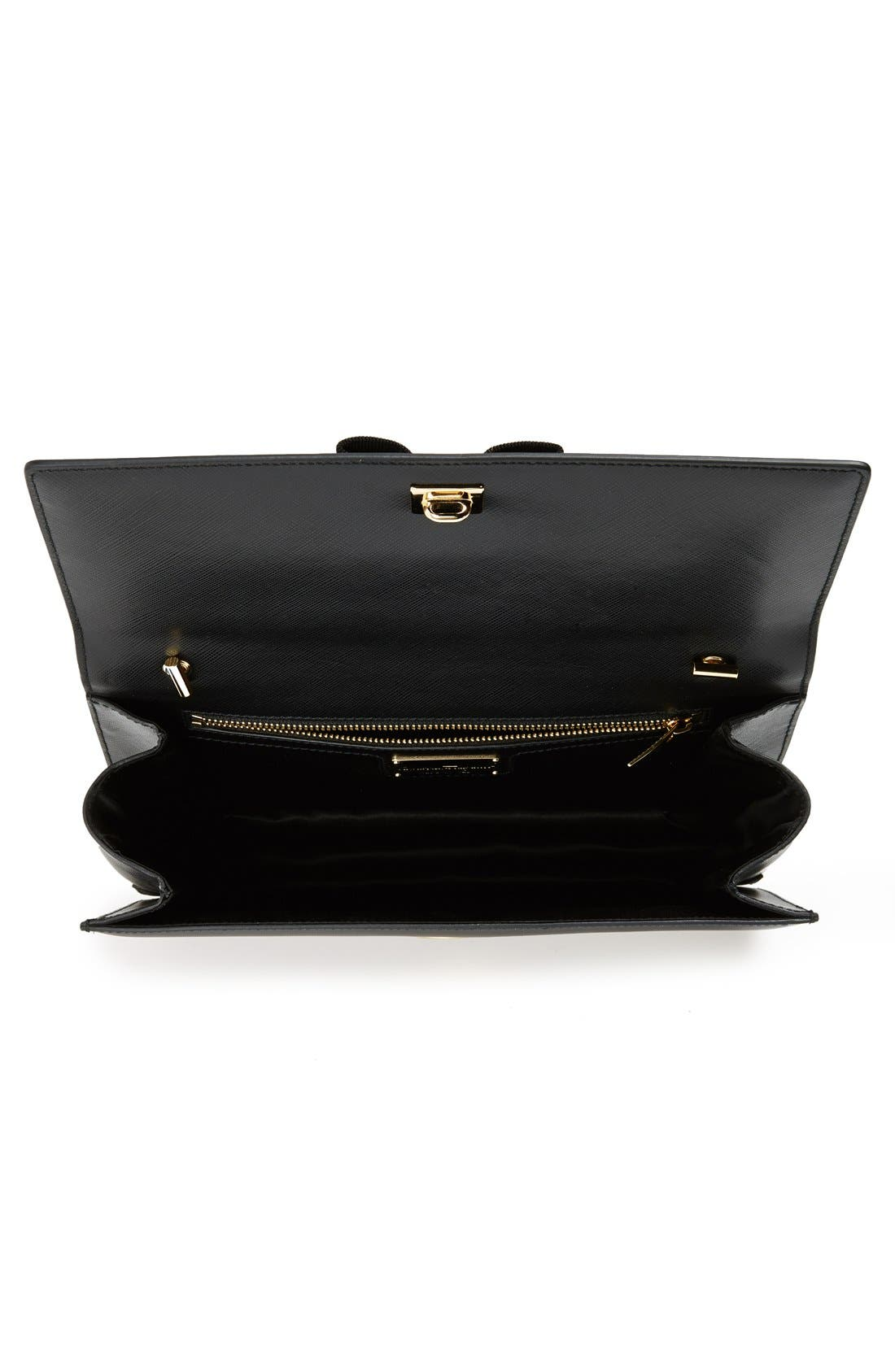 Saffiano Leather Shoulder Bag,                             Alternate thumbnail 6, color,