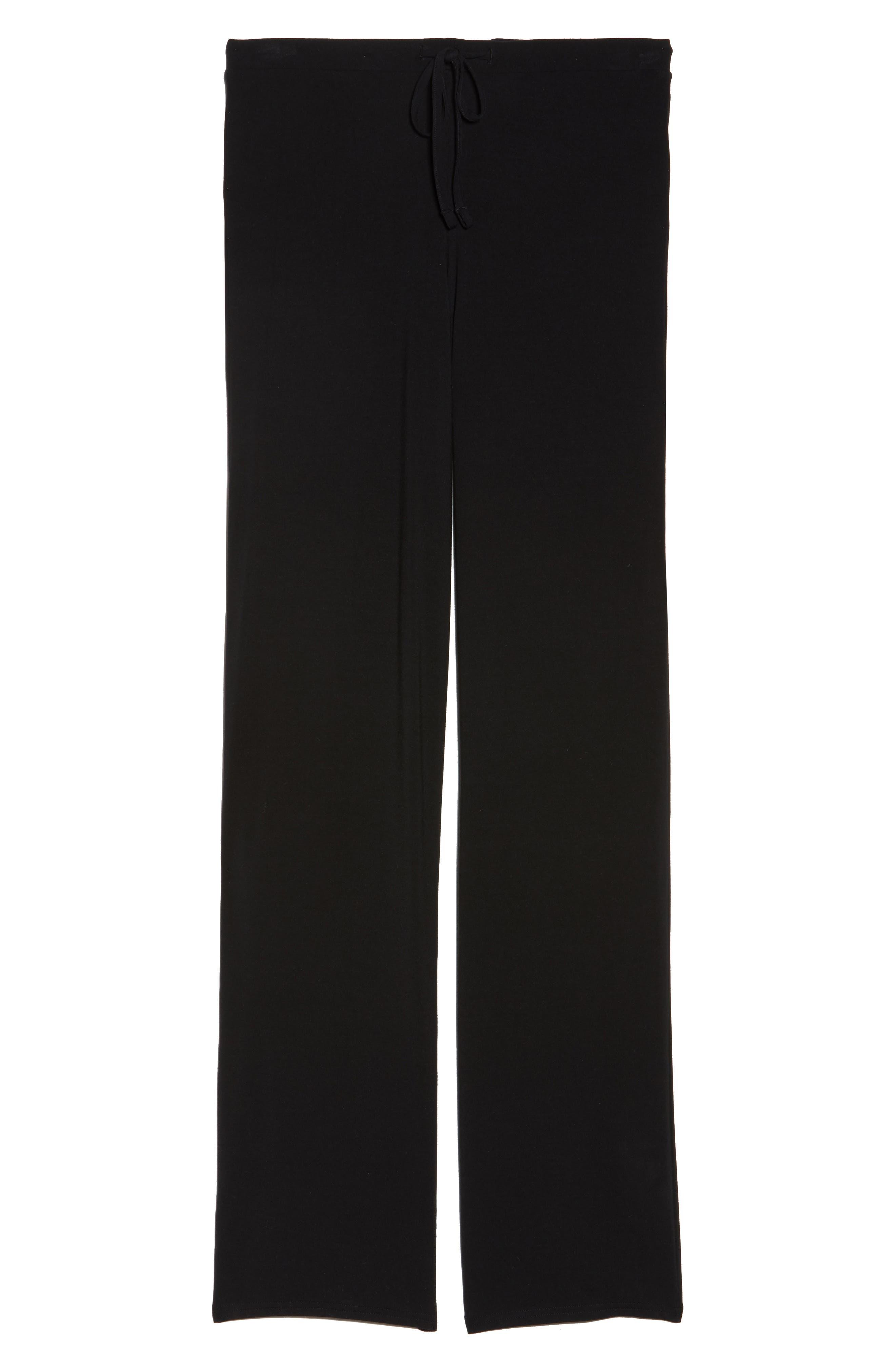 Breathe Stretch Modal Pants,                             Alternate thumbnail 6, color,                             BLACK