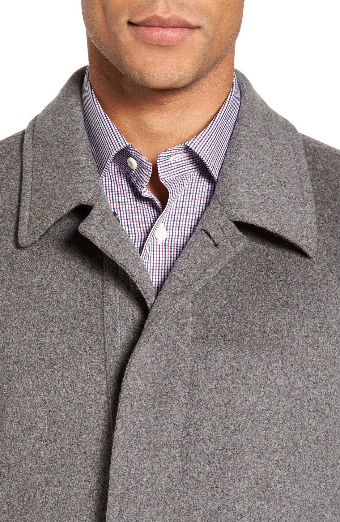 Douglas Modern Fit Wool & Cashmere Overcoat,                             Alternate thumbnail 11, color,