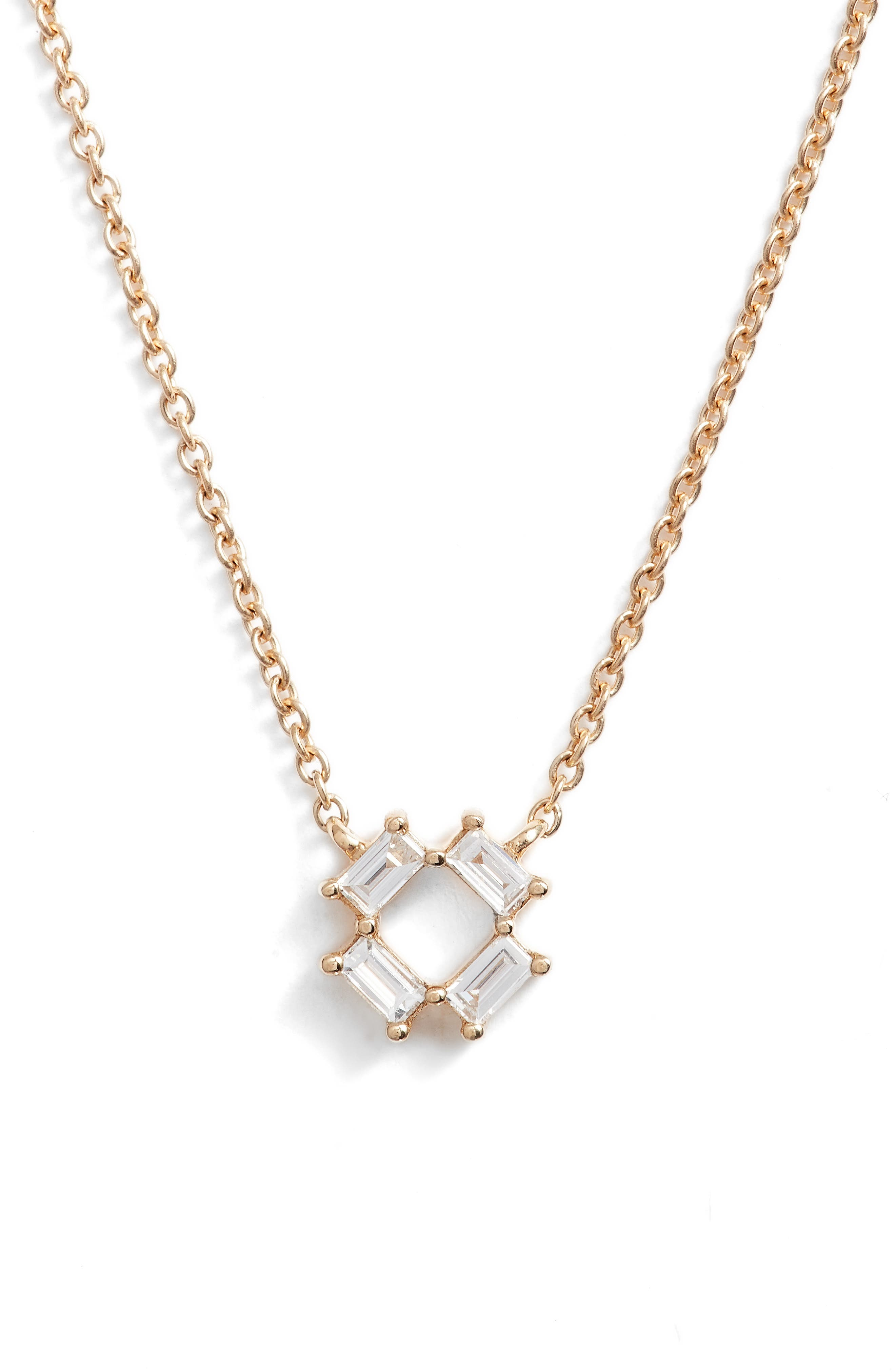 Sadie Diamond Pendant Necklace,                             Main thumbnail 1, color,                             YELLOW GOLD