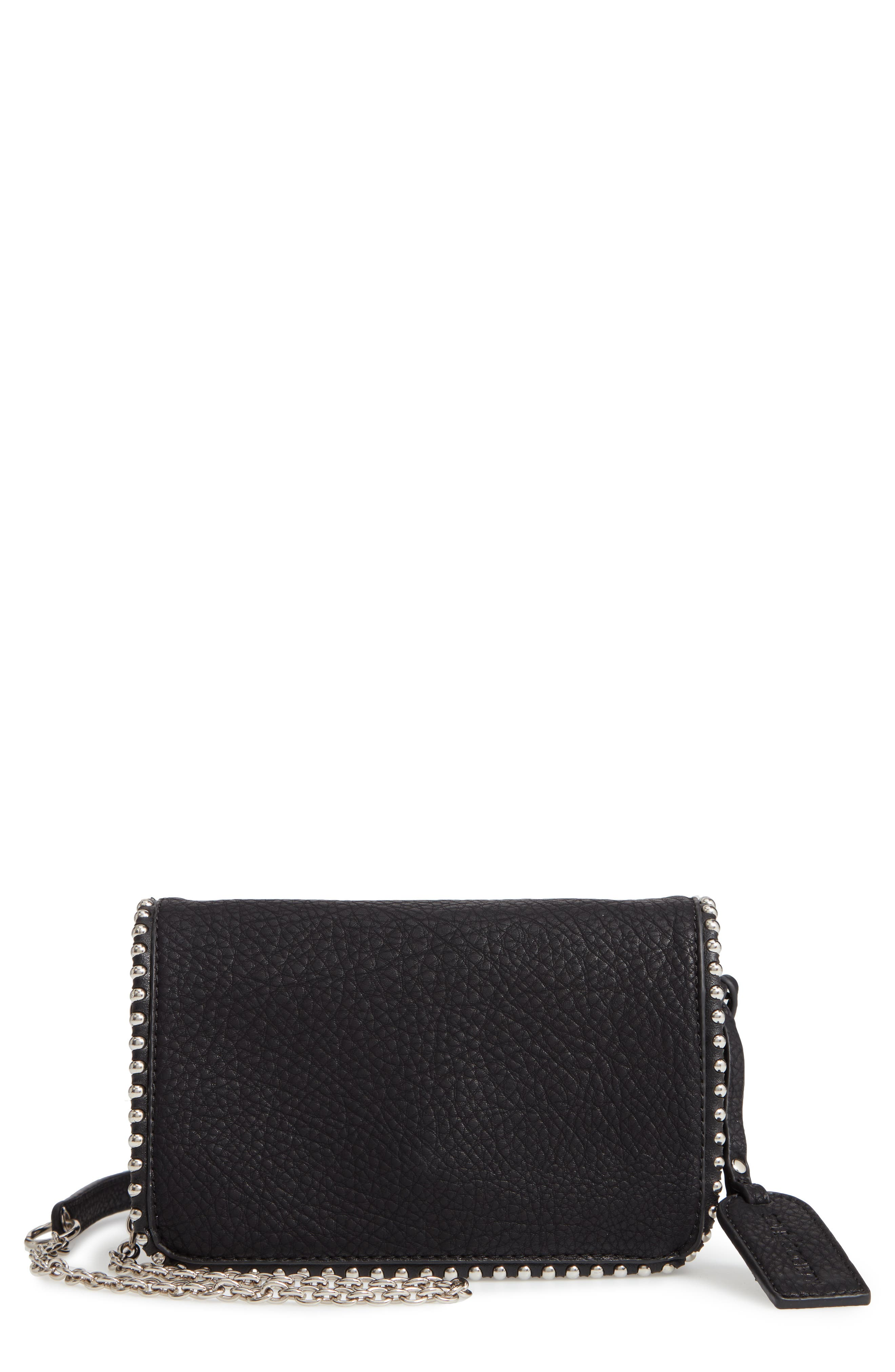 Eytal Studded Faux Leather Crossbody, Main, color, 001