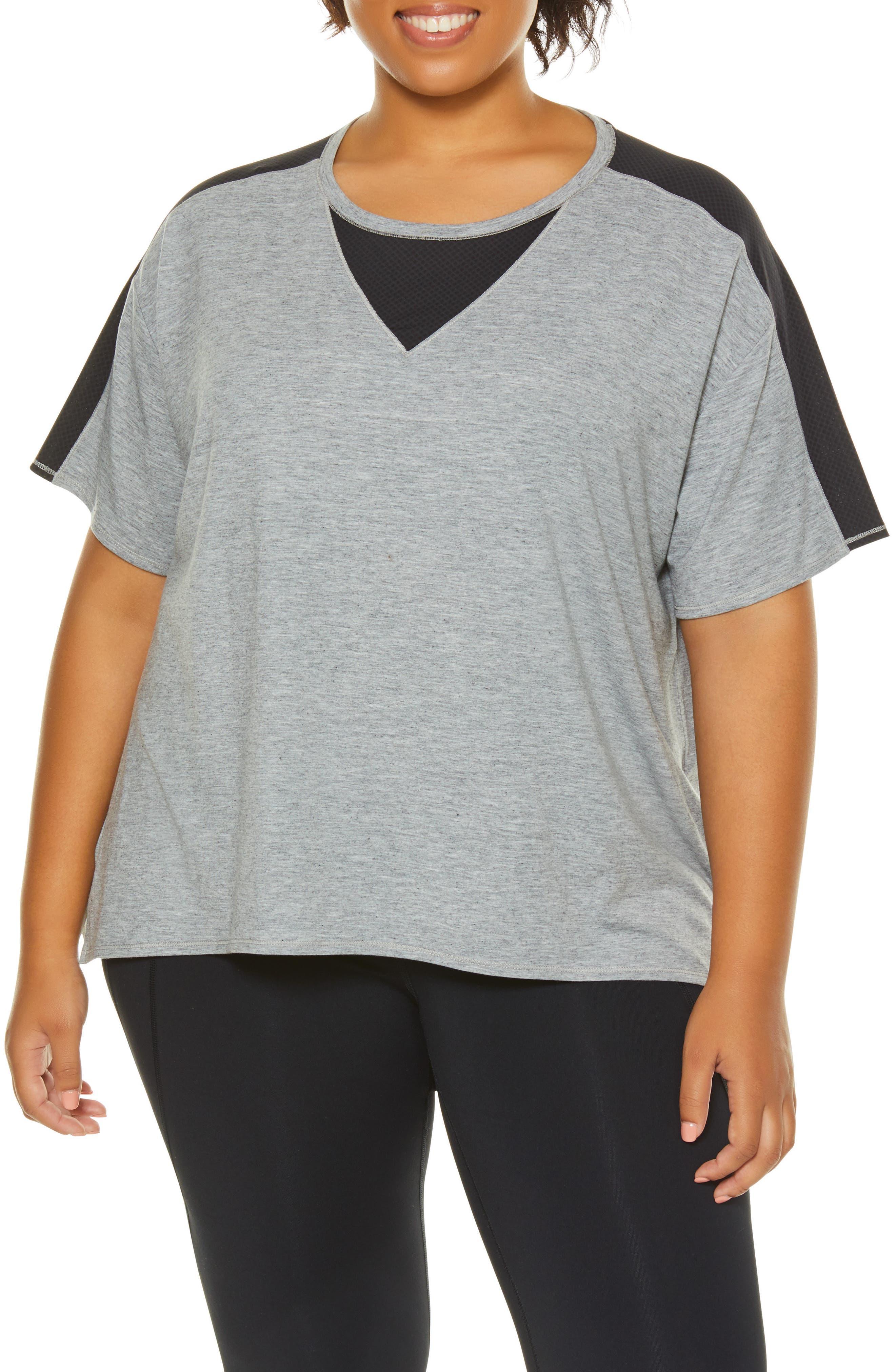 Plus Size Shape Activewear Captivate Tee, Black