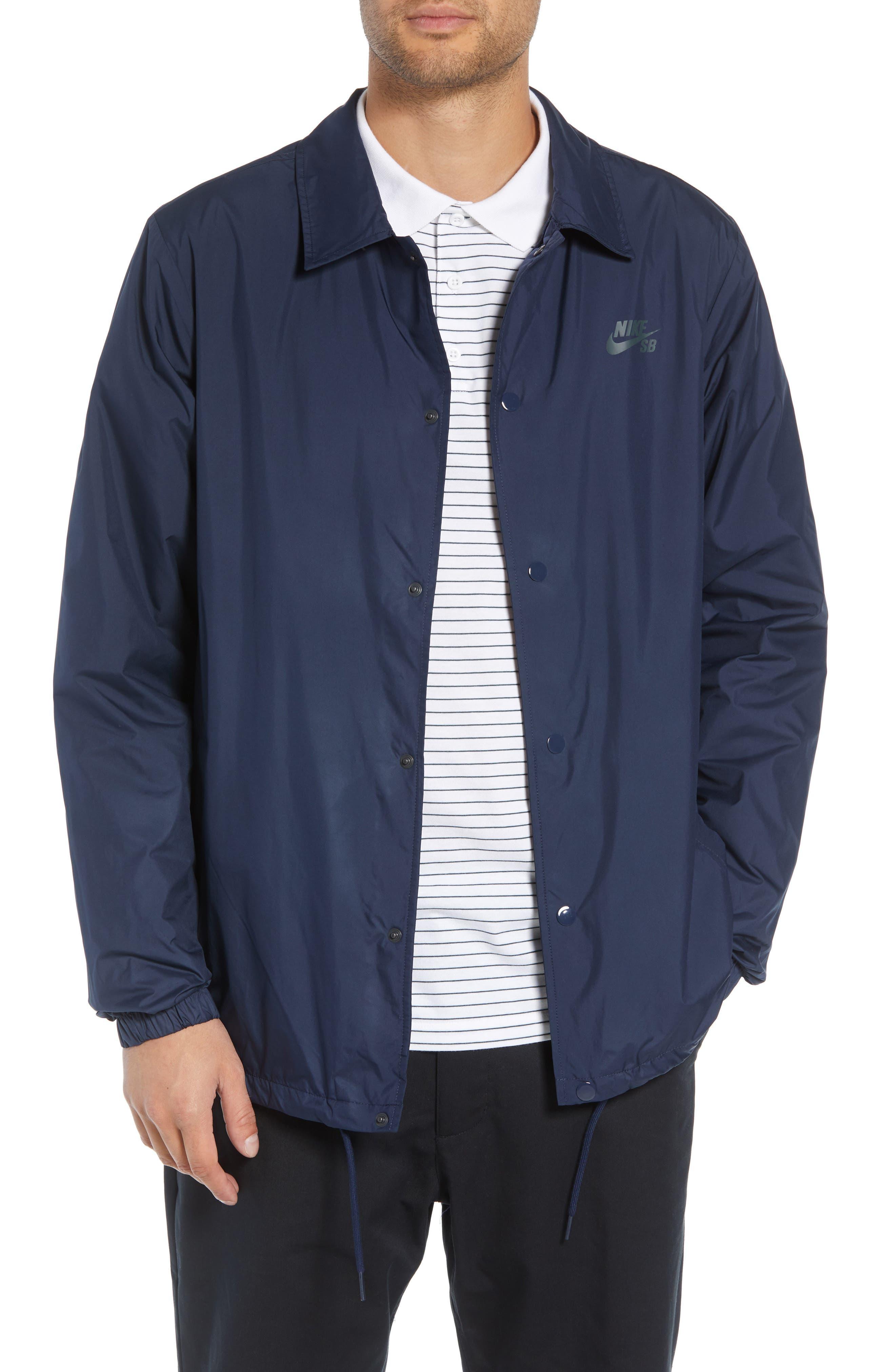 SB Shield Coach's Jacket,                             Main thumbnail 1, color,                             OBSIDIAN/ ANTHRACITE
