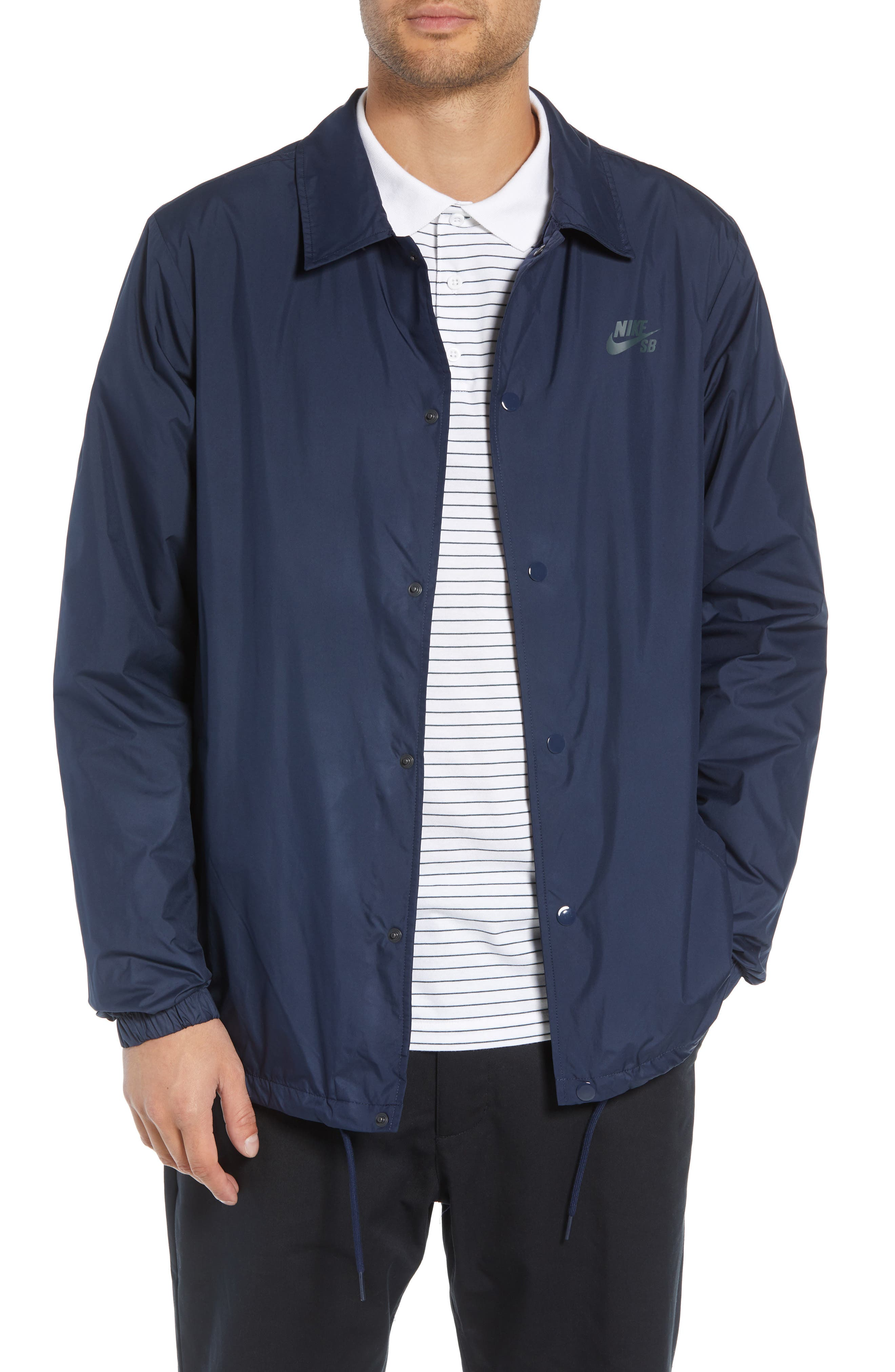 SB Shield Coach's Jacket,                         Main,                         color, OBSIDIAN/ ANTHRACITE