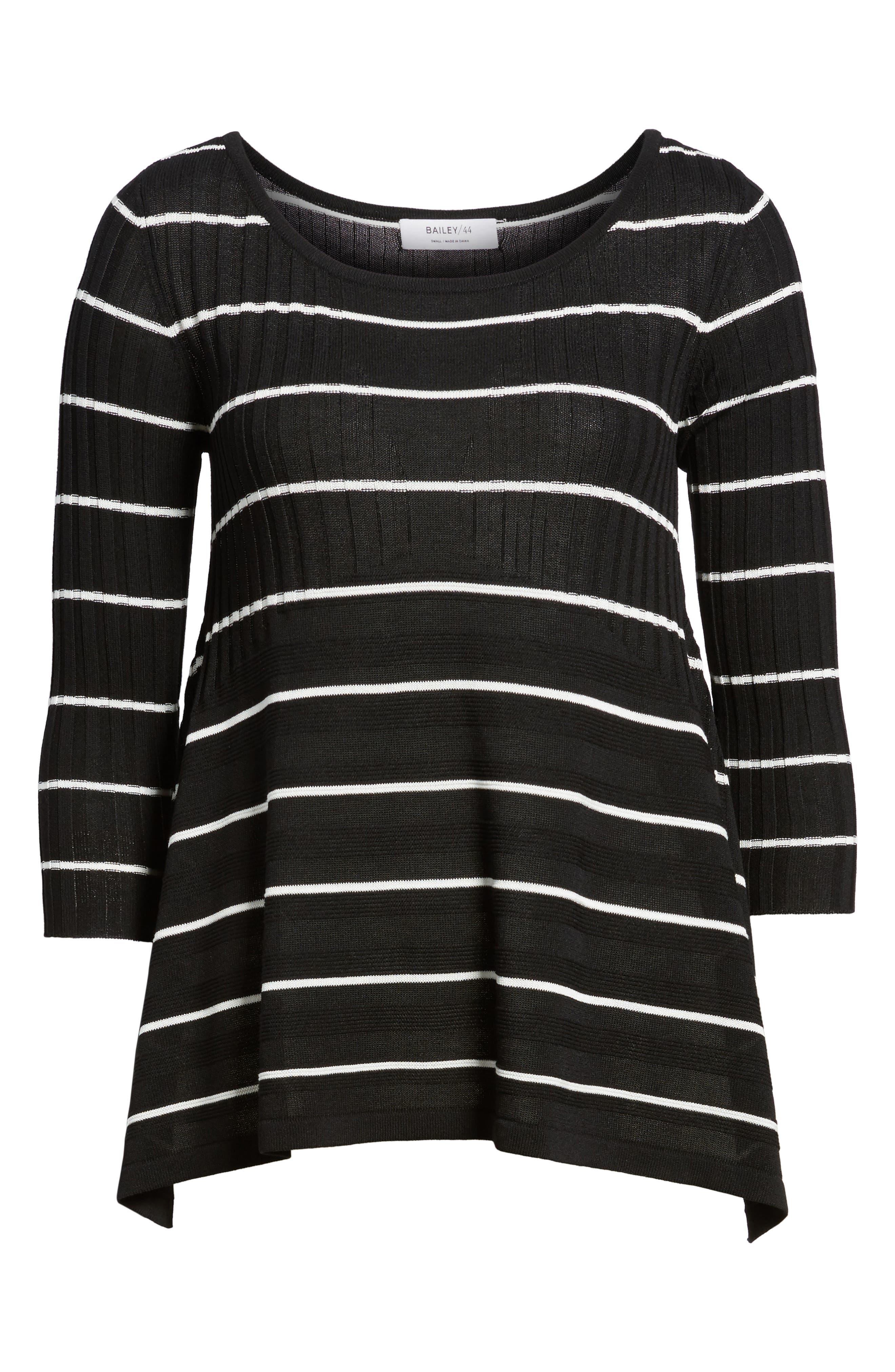 Sumo Stripe Sweater,                             Alternate thumbnail 6, color,                             BLACK