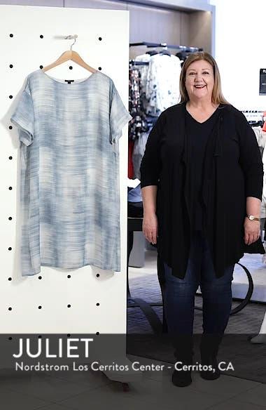 Bateau Neck Silk Shift Dress, sales video thumbnail