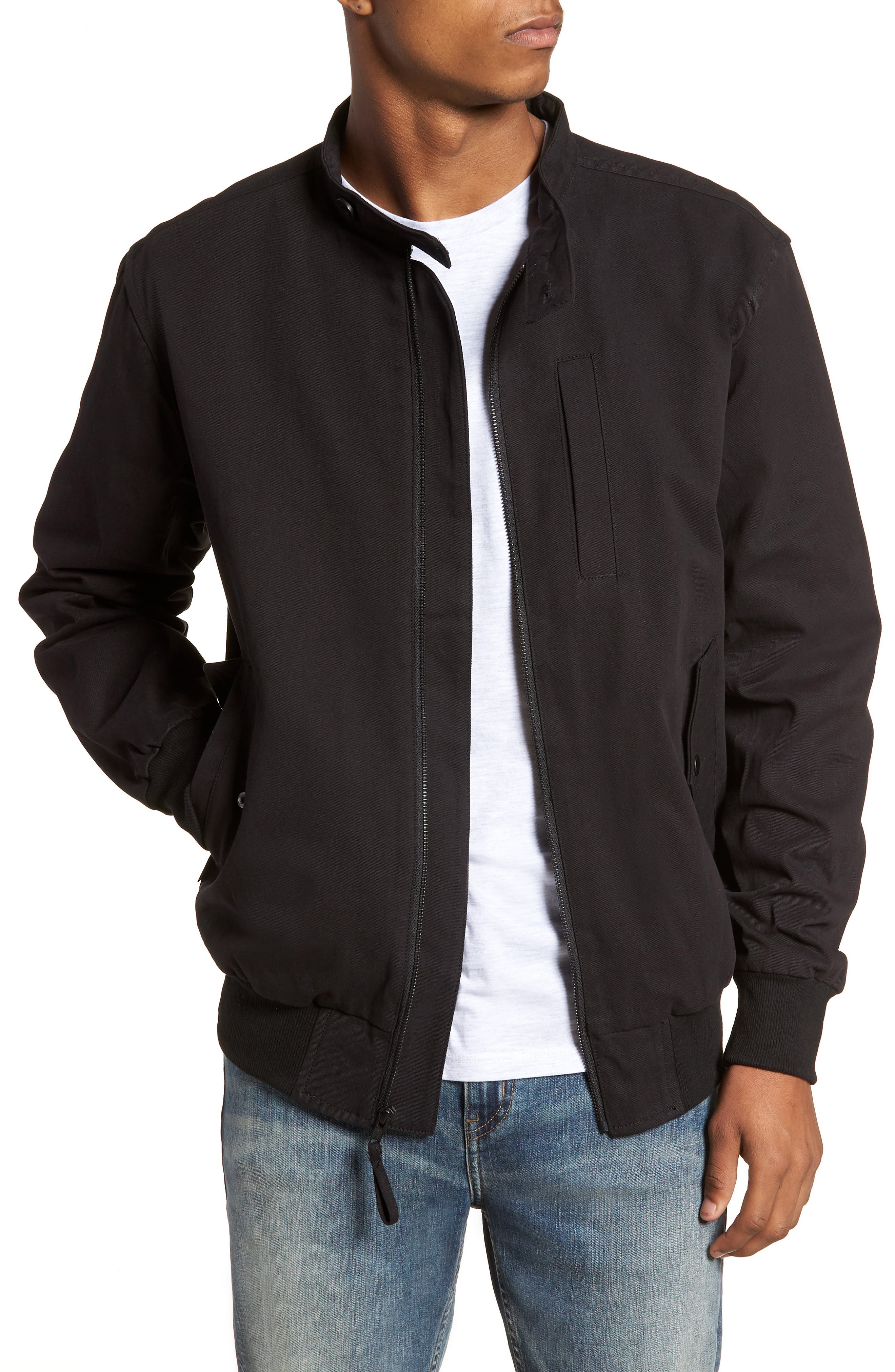 Dotson Twill Bomber Jacket,                             Main thumbnail 1, color,                             001
