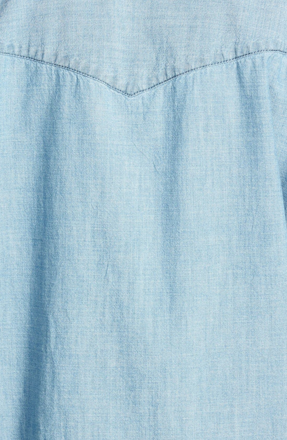 Oversize Chambray Shirt,                             Alternate thumbnail 2, color,
