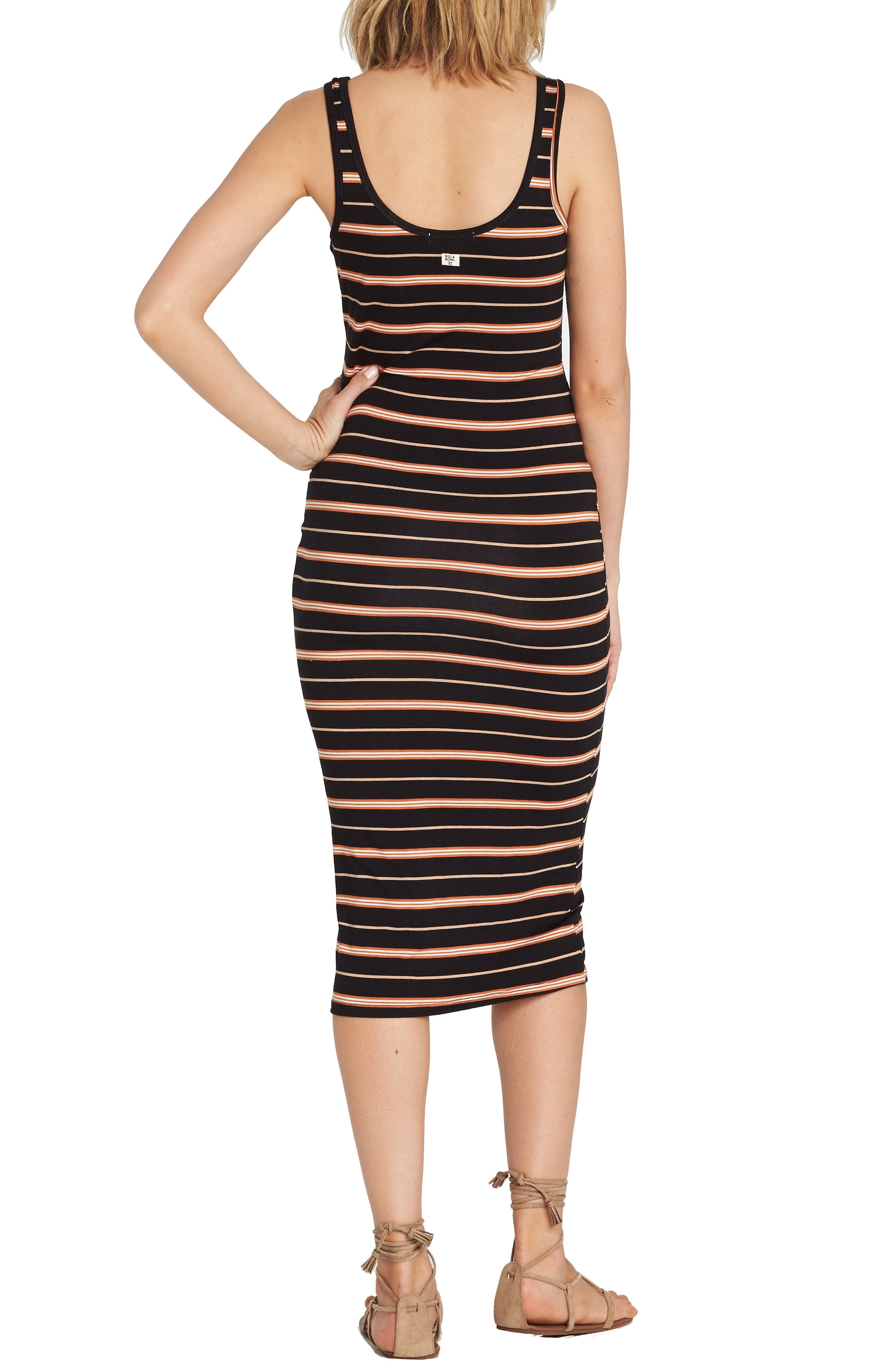 Share Joy Body-Con Midi Dress,                             Alternate thumbnail 2, color,                             TOFFEE