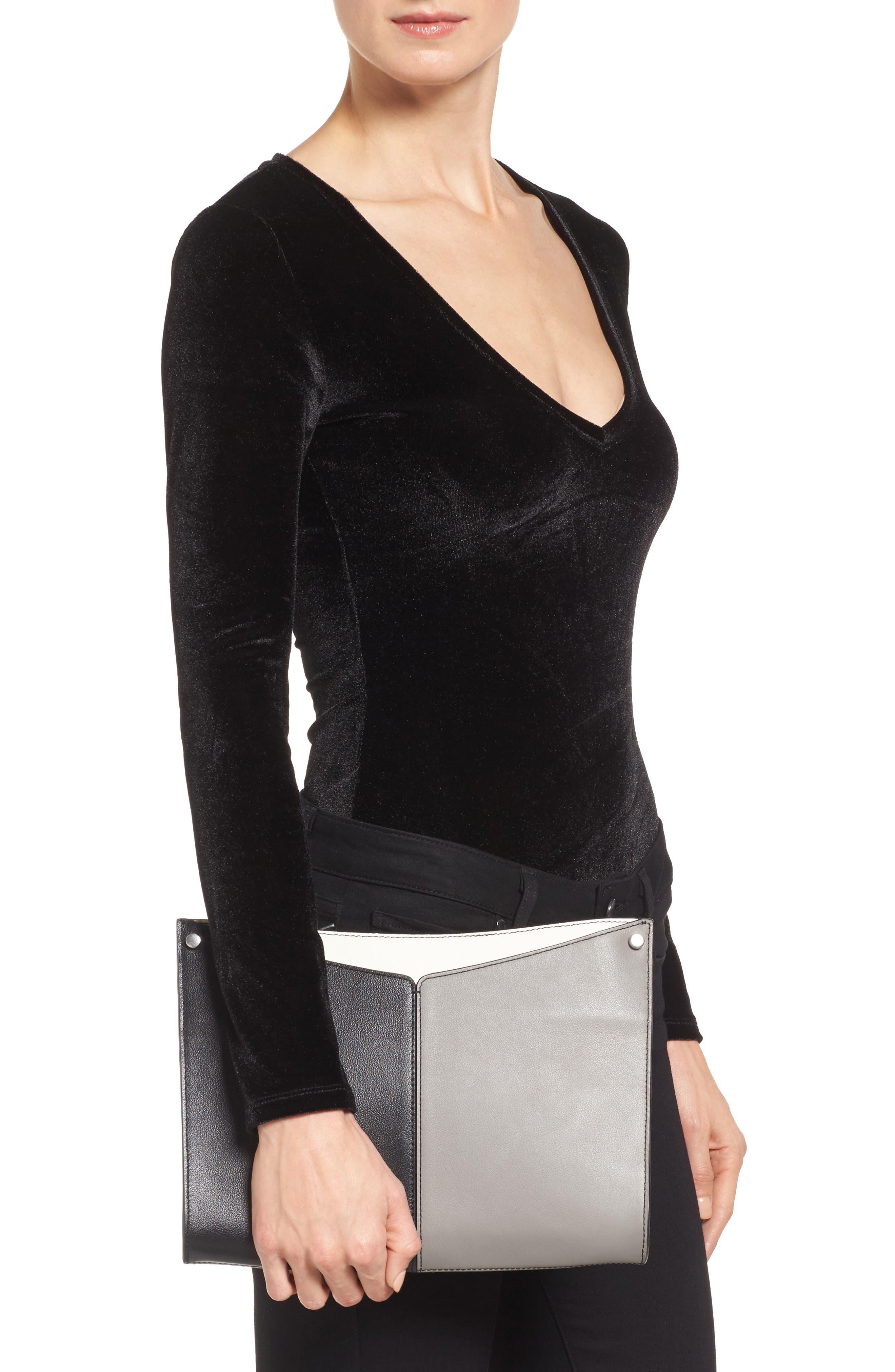 Harrison Leather Shoulder Bag,                             Alternate thumbnail 2, color,                             001