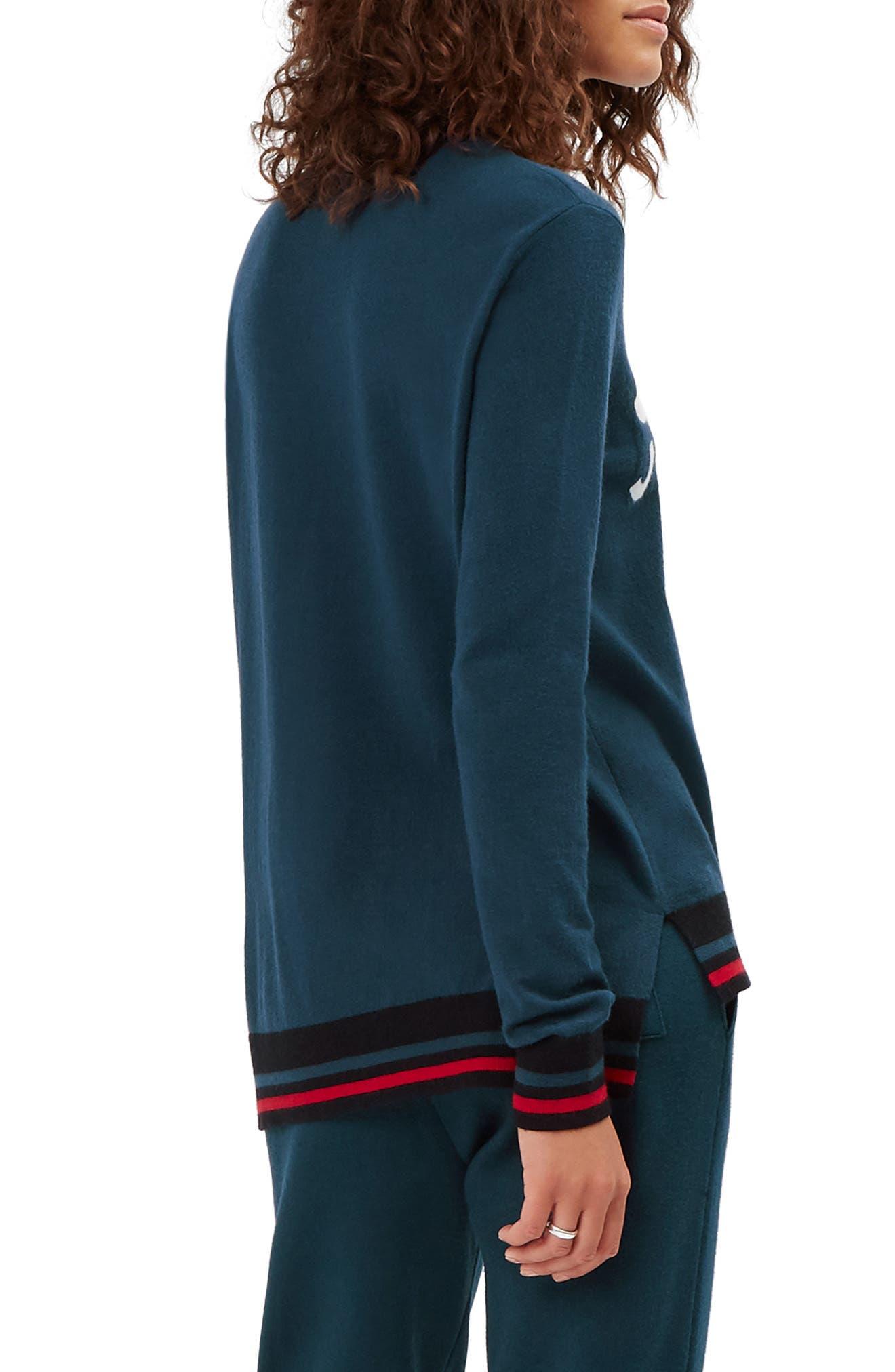 Ski Jumper Sweater,                             Alternate thumbnail 2, color,                             BEETLE BLUE