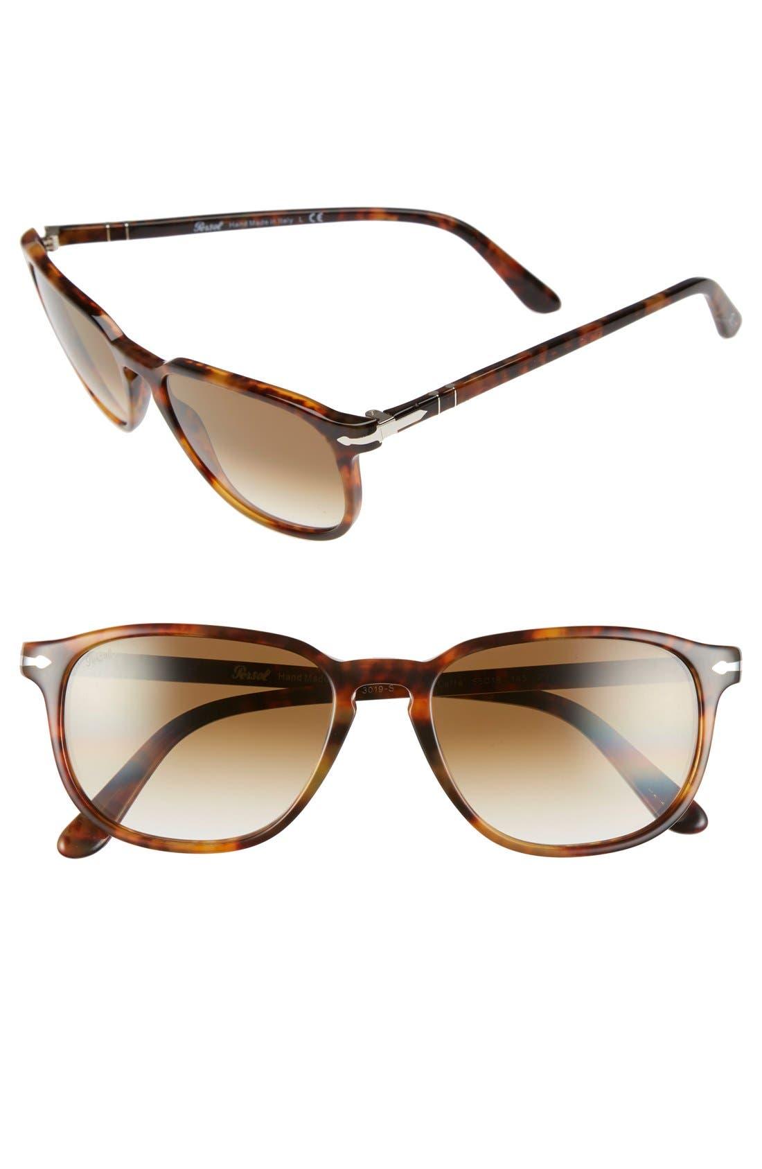 PERSOL 53Mm Square Keyhole Sunglasses - Dark Tortoise