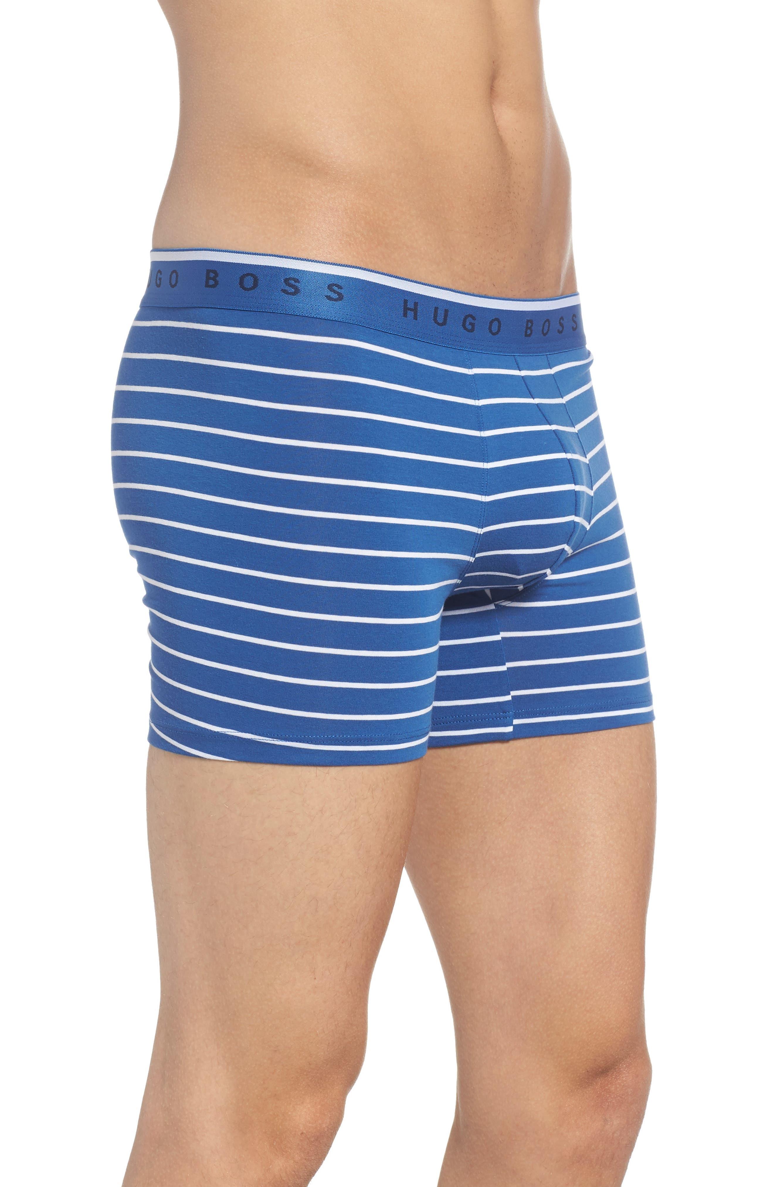 Stripe Boxer Briefs,                             Alternate thumbnail 3, color,                             BLUE
