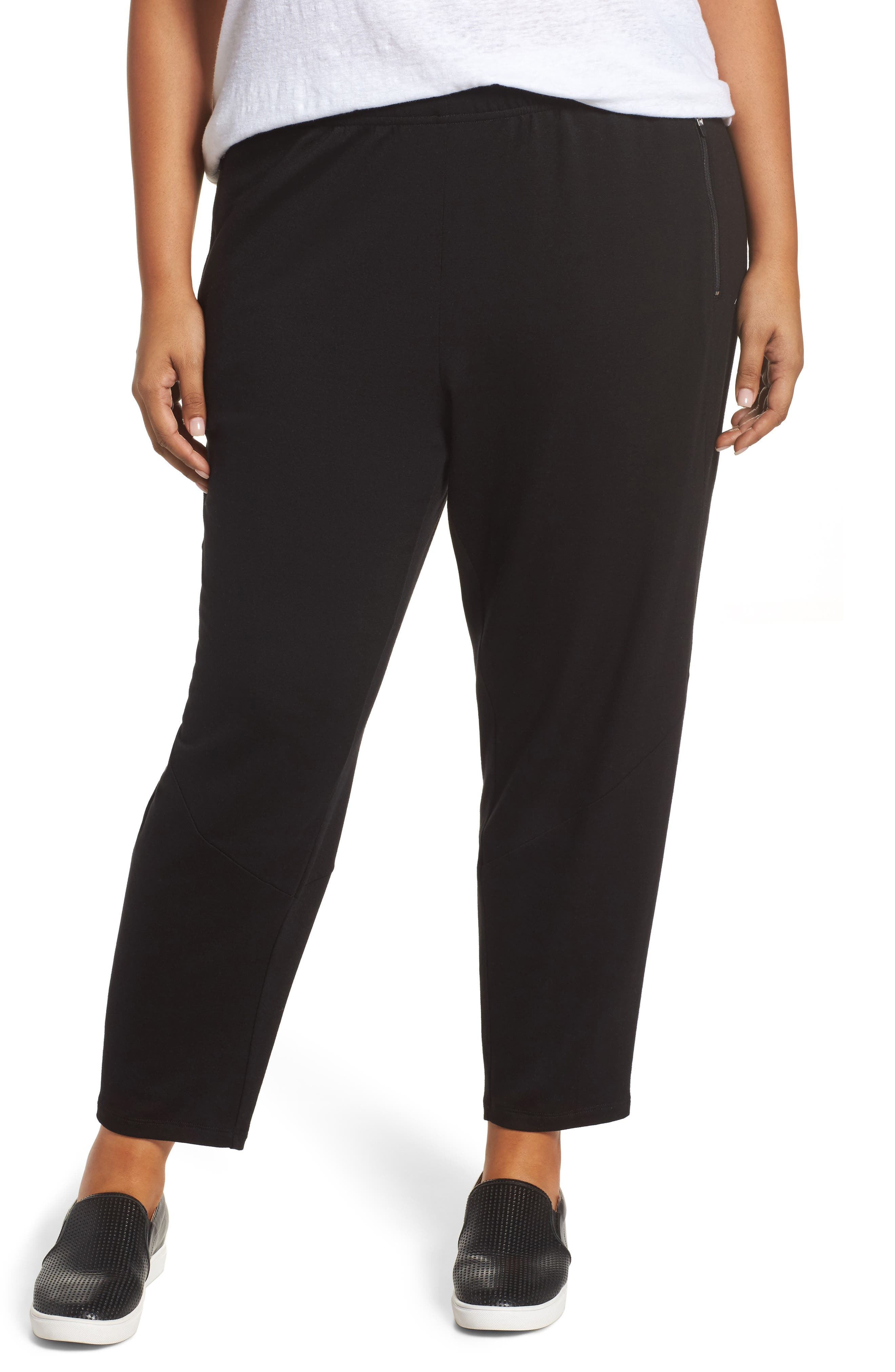 Slouchy Stretch Pants,                         Main,                         color, 001