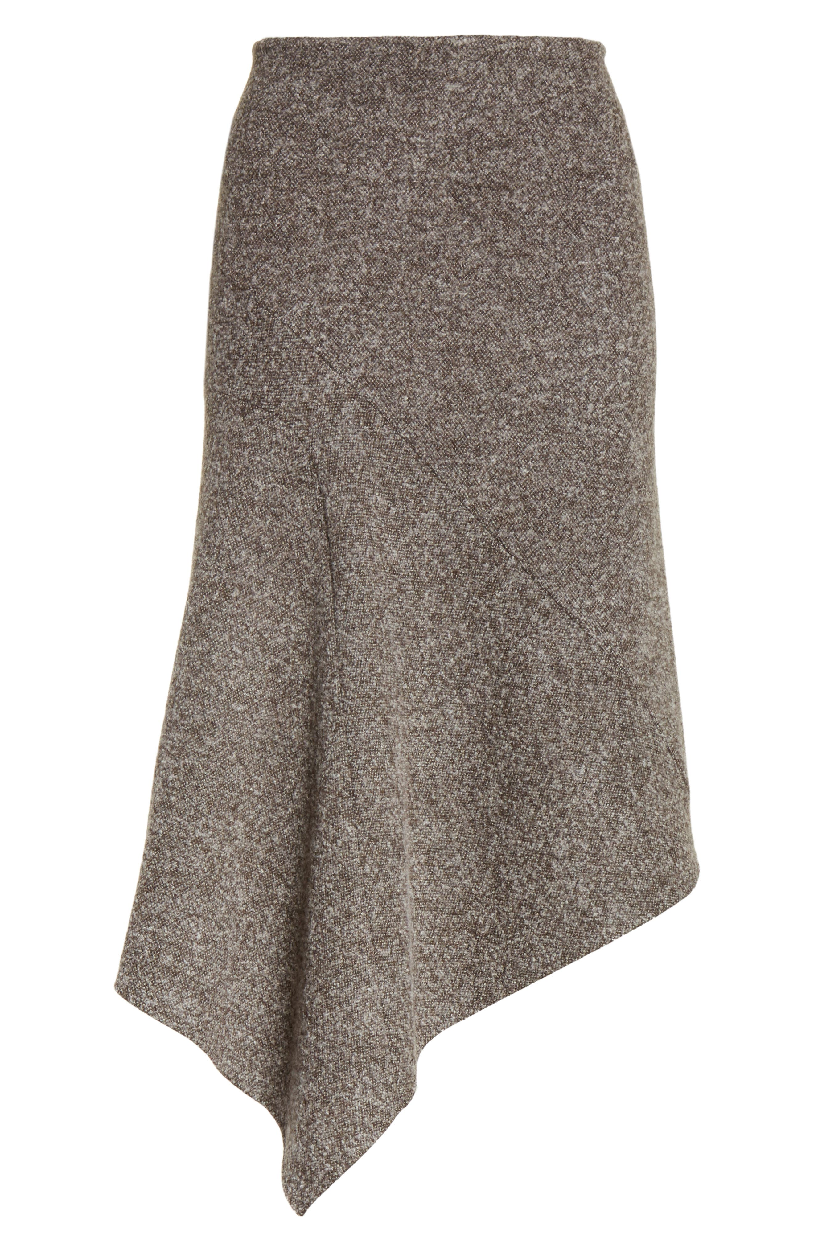 Galaxy Tweed Asymmetrical Skirt,                             Alternate thumbnail 6, color,