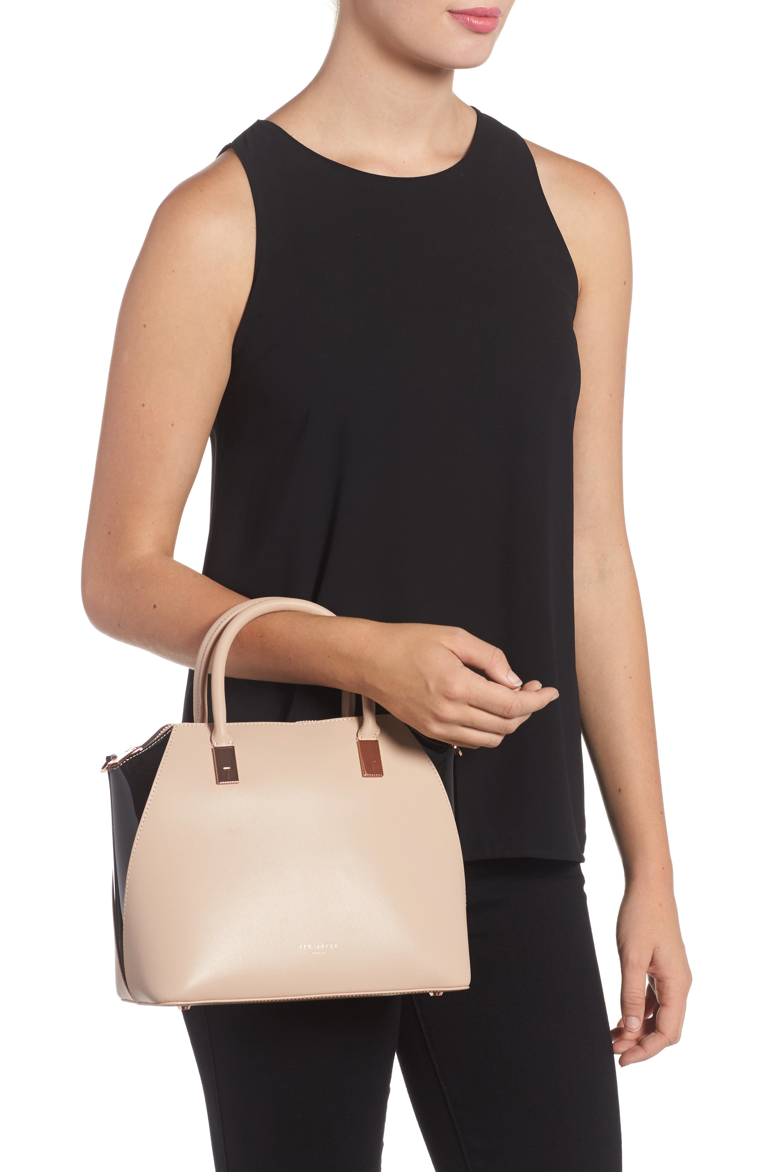 Small Ashlee Leather Tote Bag,                             Alternate thumbnail 2, color,                             271