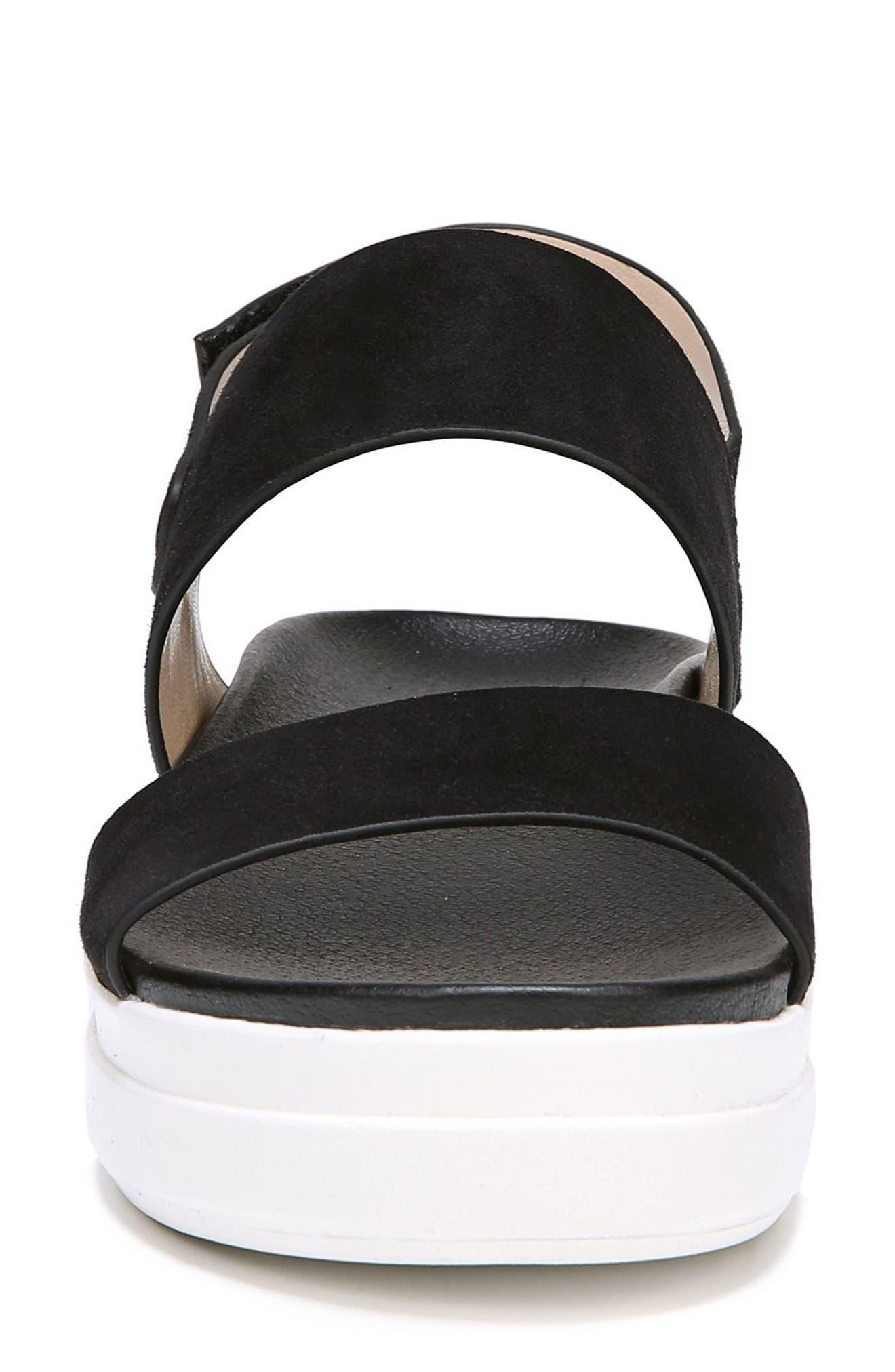 Scout Platform Sandal,                             Alternate thumbnail 4, color,                             BLACK SUEDE