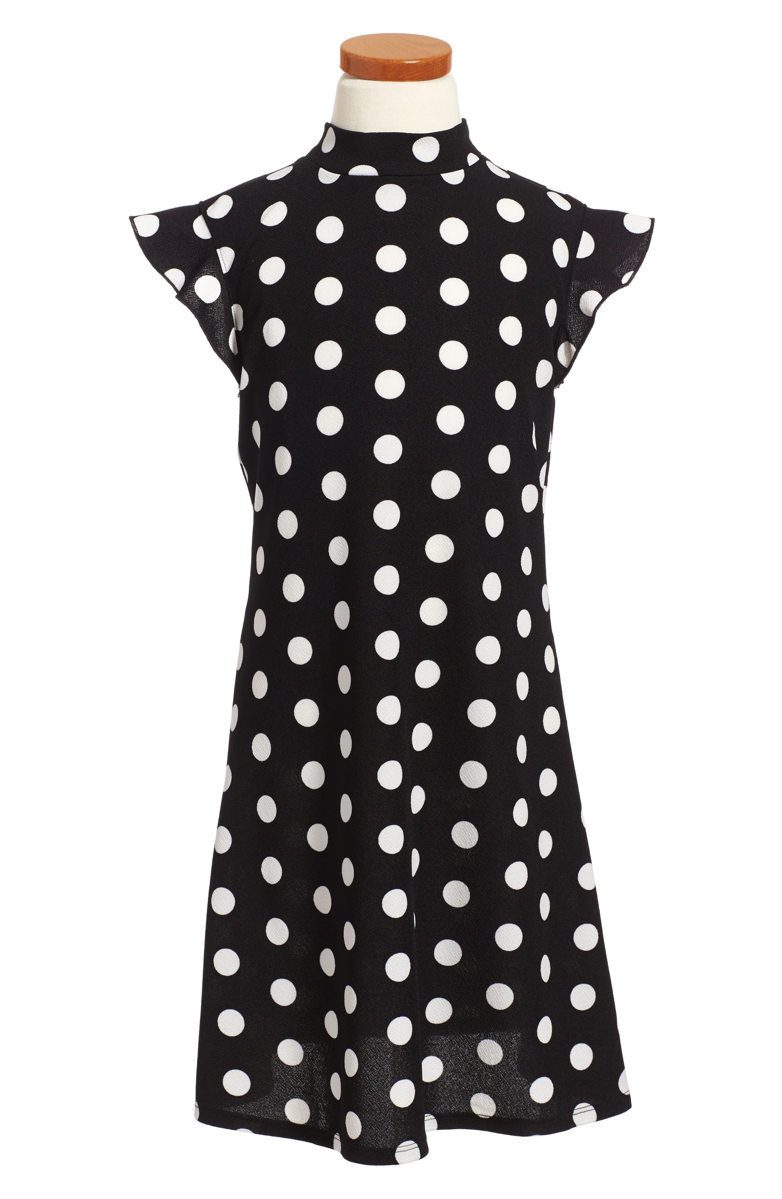 Polka Dot Dress,                             Main thumbnail 1, color,                             002