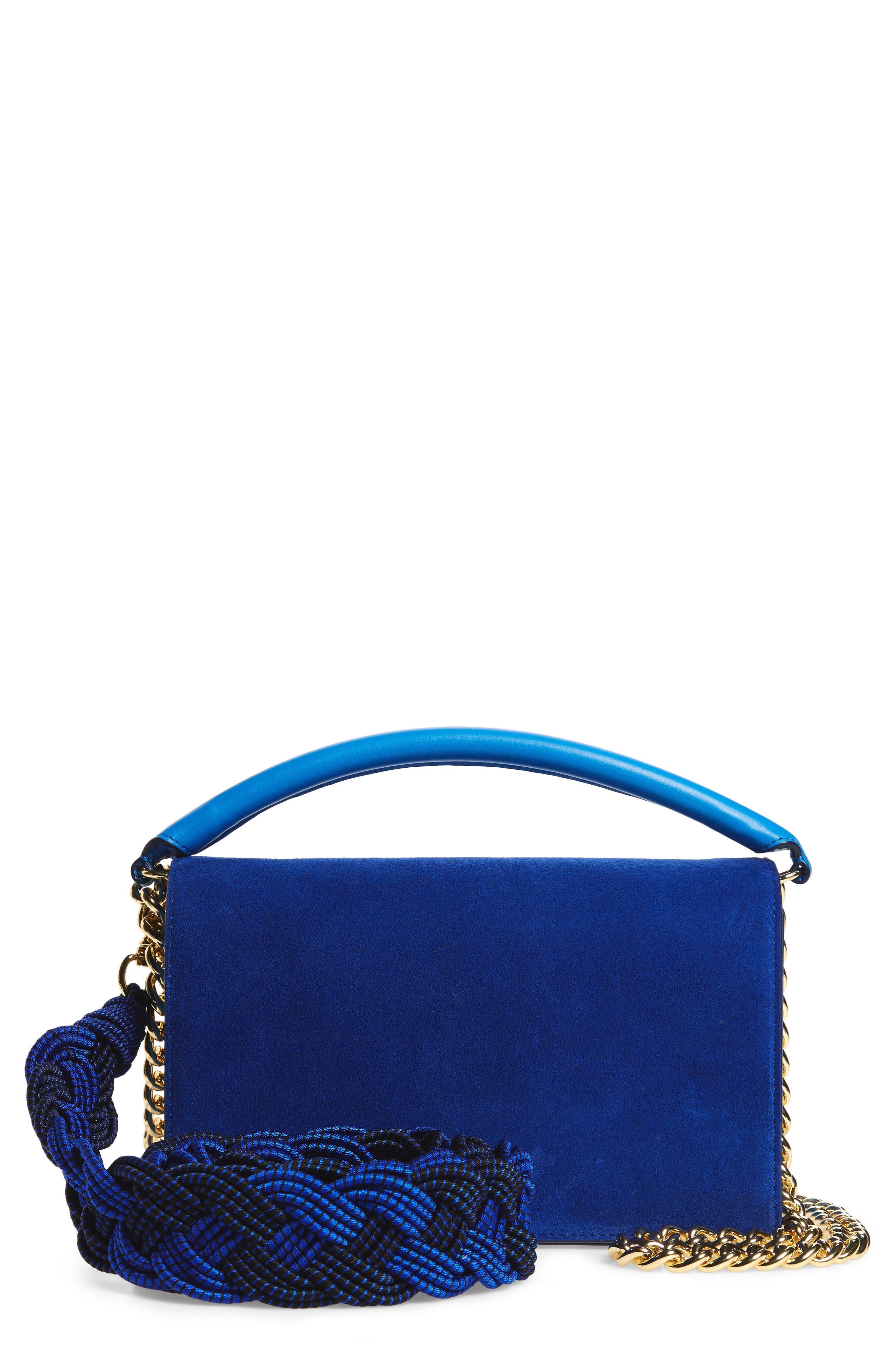 Bonne Soirée Leather & Suede Top Handle Bag,                             Main thumbnail 1, color,                             400