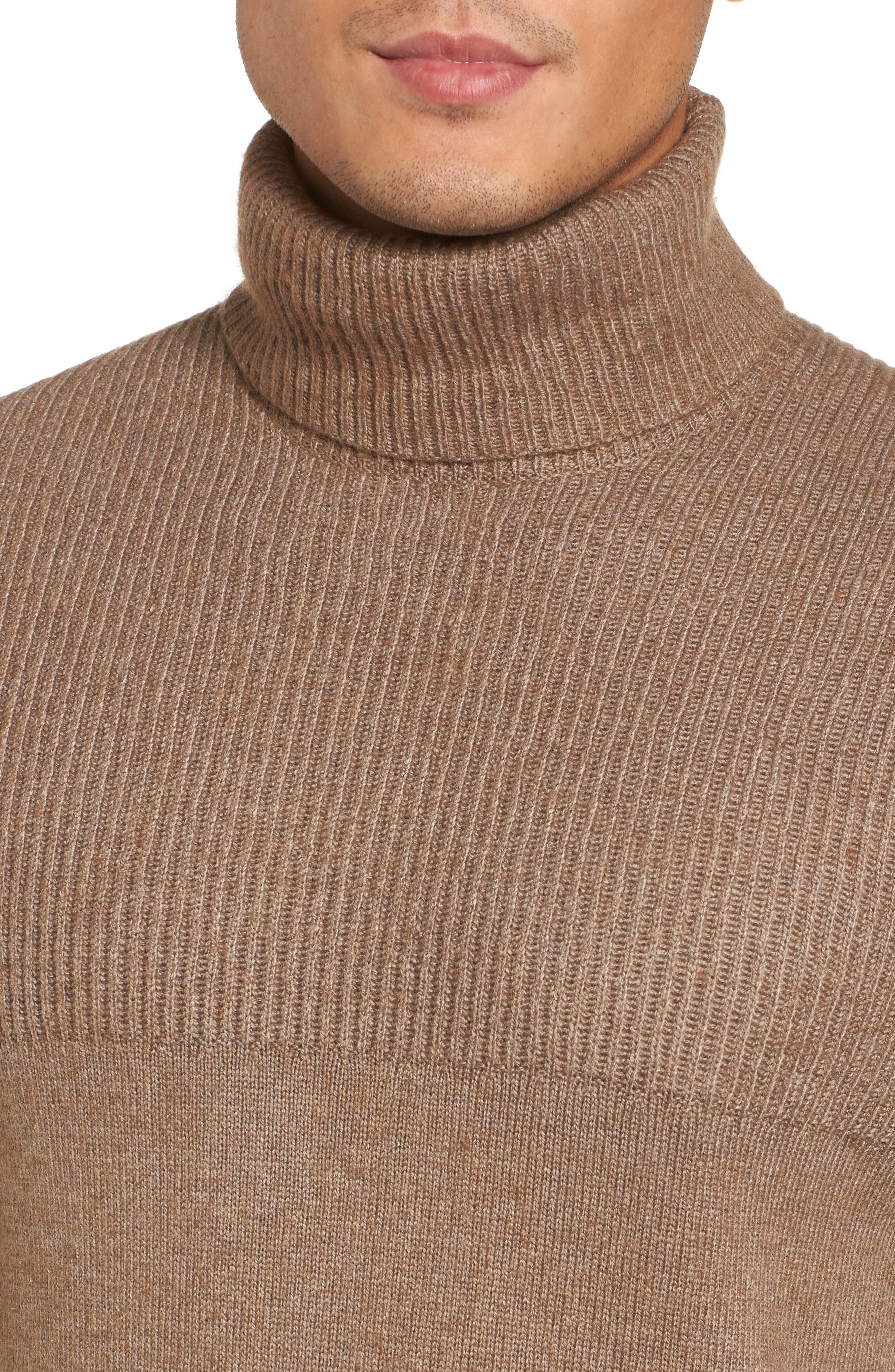 Mix Stitch Turtleneck Sweater,                             Alternate thumbnail 4, color,                             261