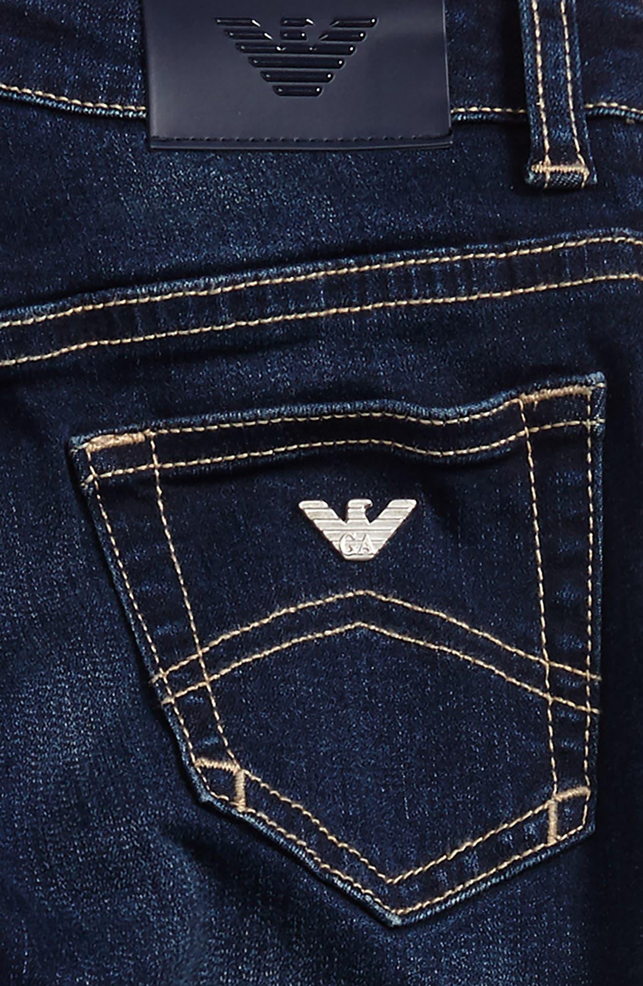 Straight Leg Jeans,                             Alternate thumbnail 3, color,                             424