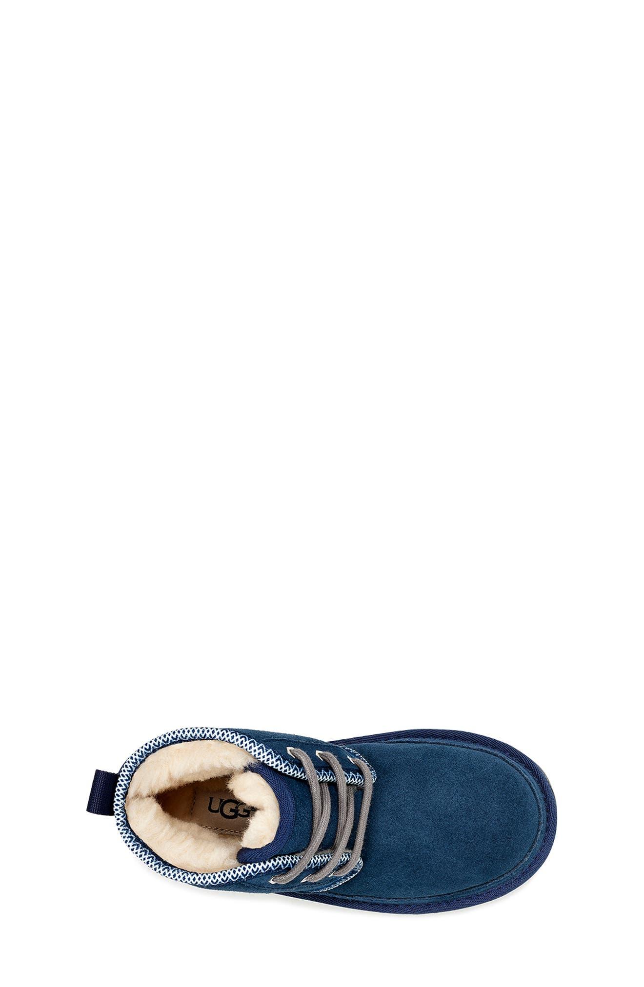 Neumel II Tasman Genuine Shearling Chukka Boot,                             Alternate thumbnail 4, color,                             NAVY / TASMAN