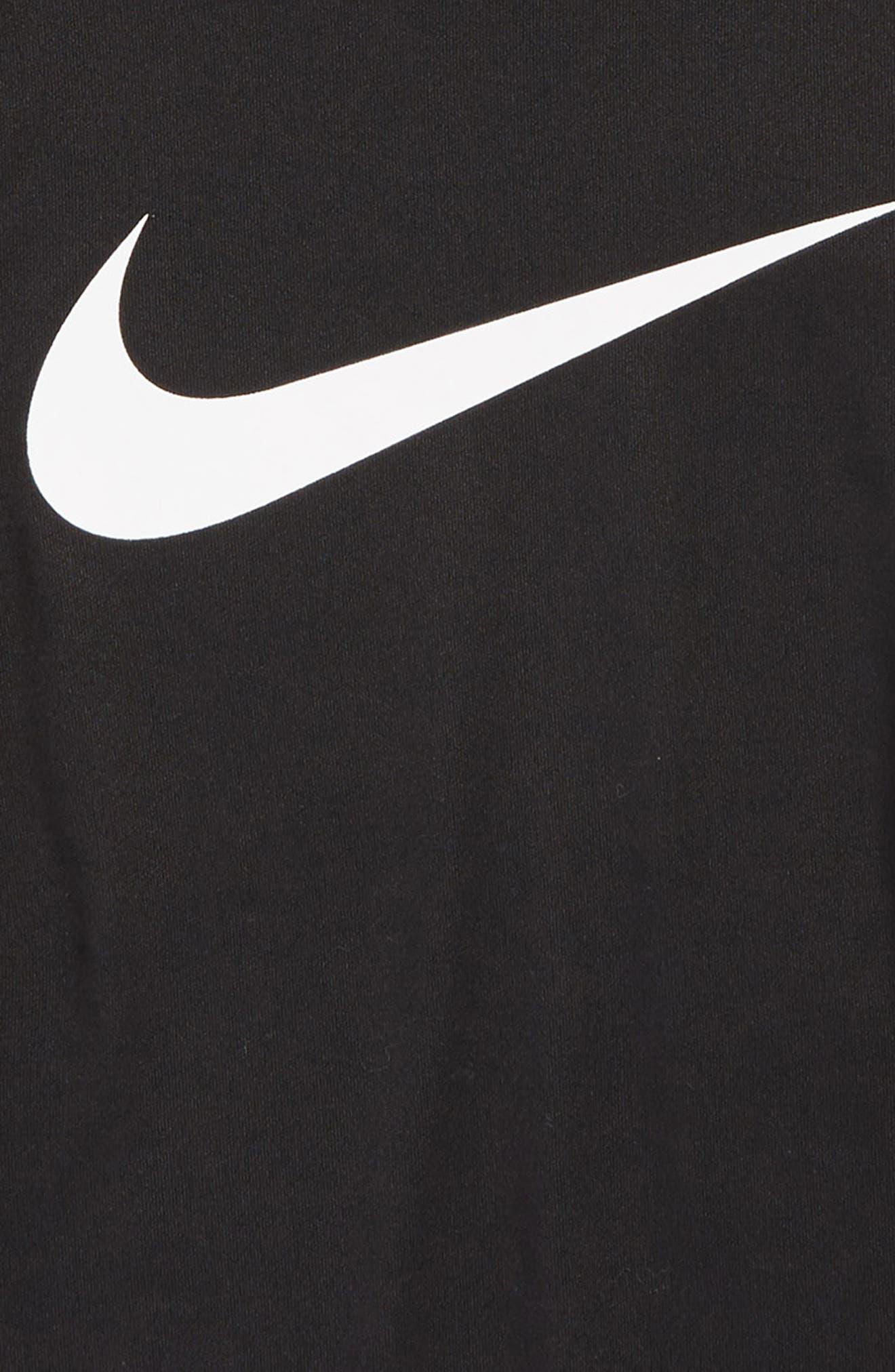 Dry Long Sleeve Swoosh Logo T-Shirt,                             Alternate thumbnail 2, color,                             010