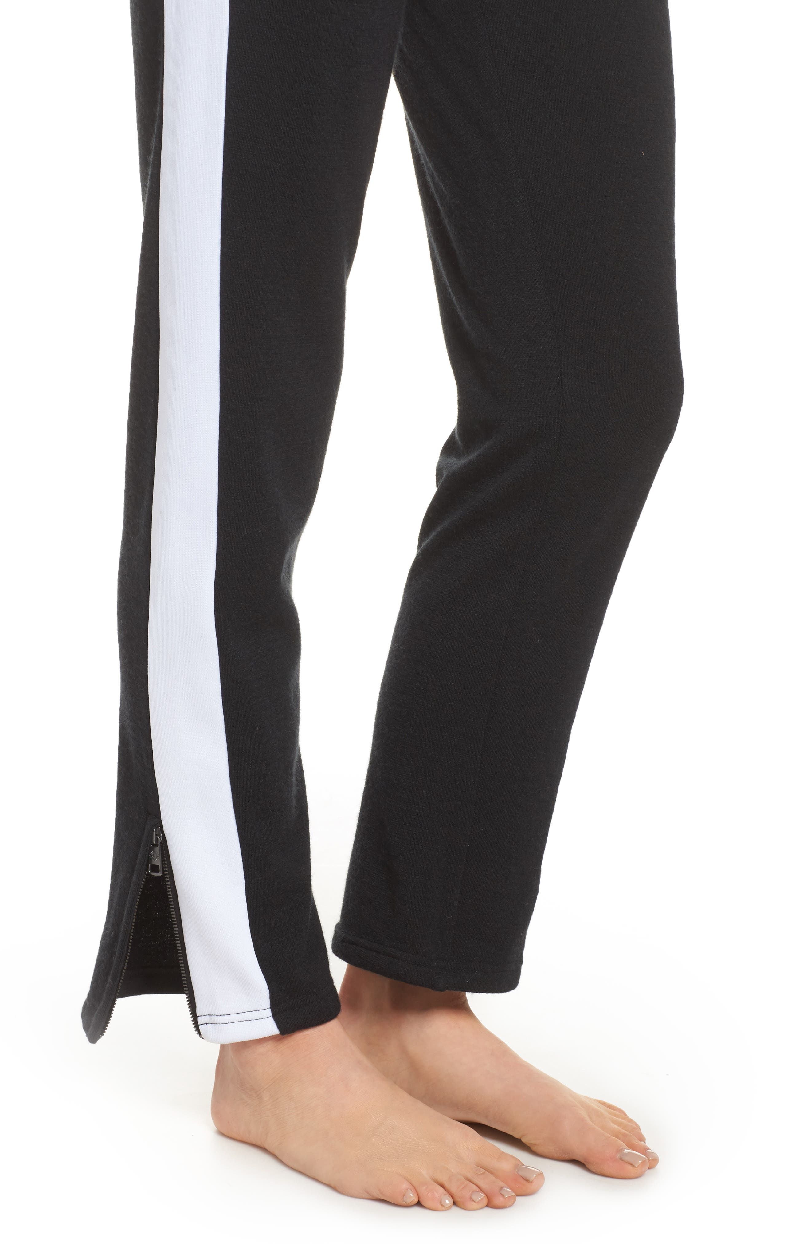 Lizy Track Pants,                             Alternate thumbnail 4, color,                             BLACK