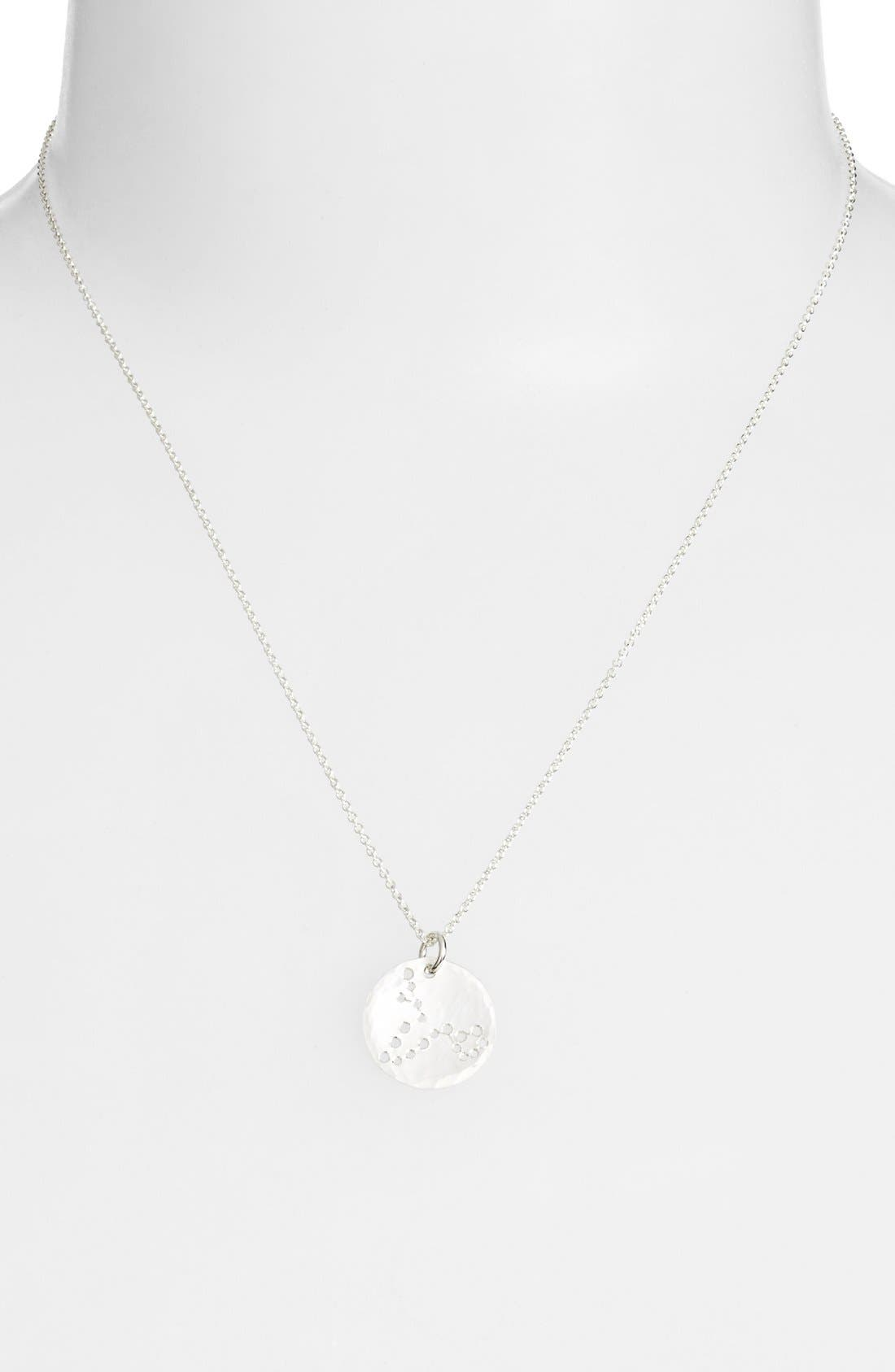 Ija 'Small Zodiac' Sterling Silver Necklace,                             Alternate thumbnail 14, color,