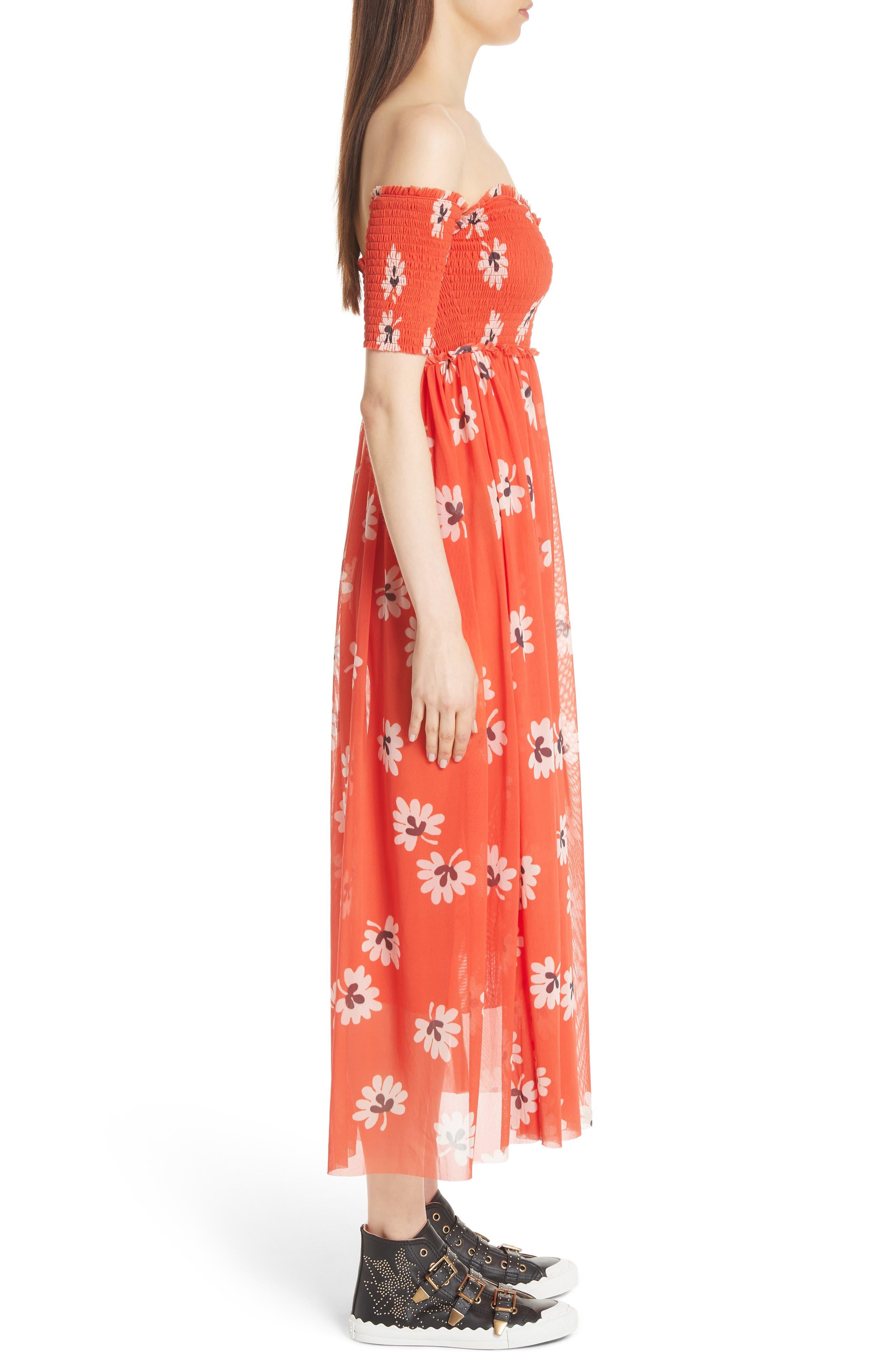 Tilden Mesh Dress,                             Alternate thumbnail 3, color,                             600