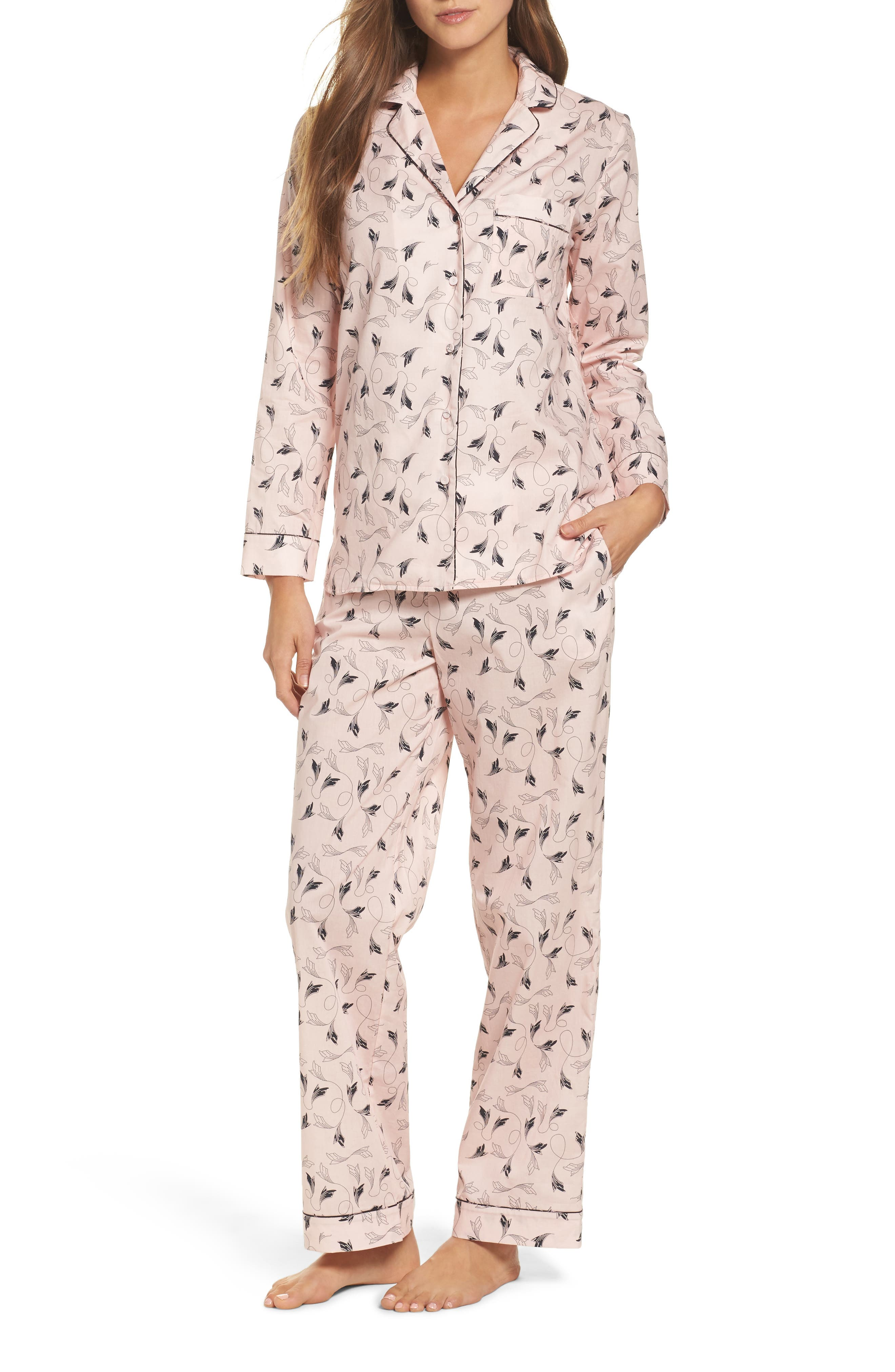 Classic Print Cotton Poplin Pajamas,                             Main thumbnail 1, color,