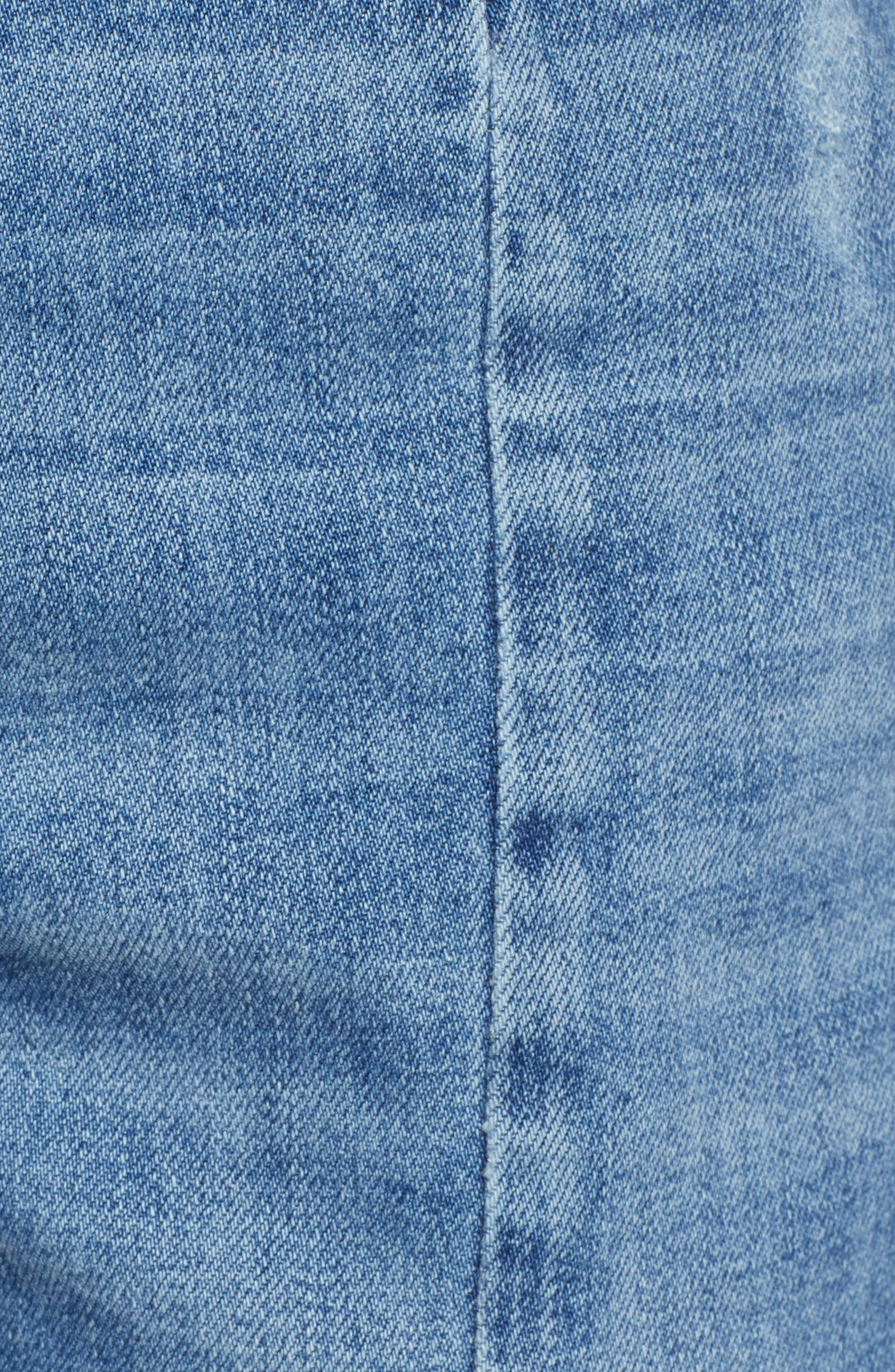 High Waist Ankle Slit Skinny Jeans,                             Alternate thumbnail 6, color,